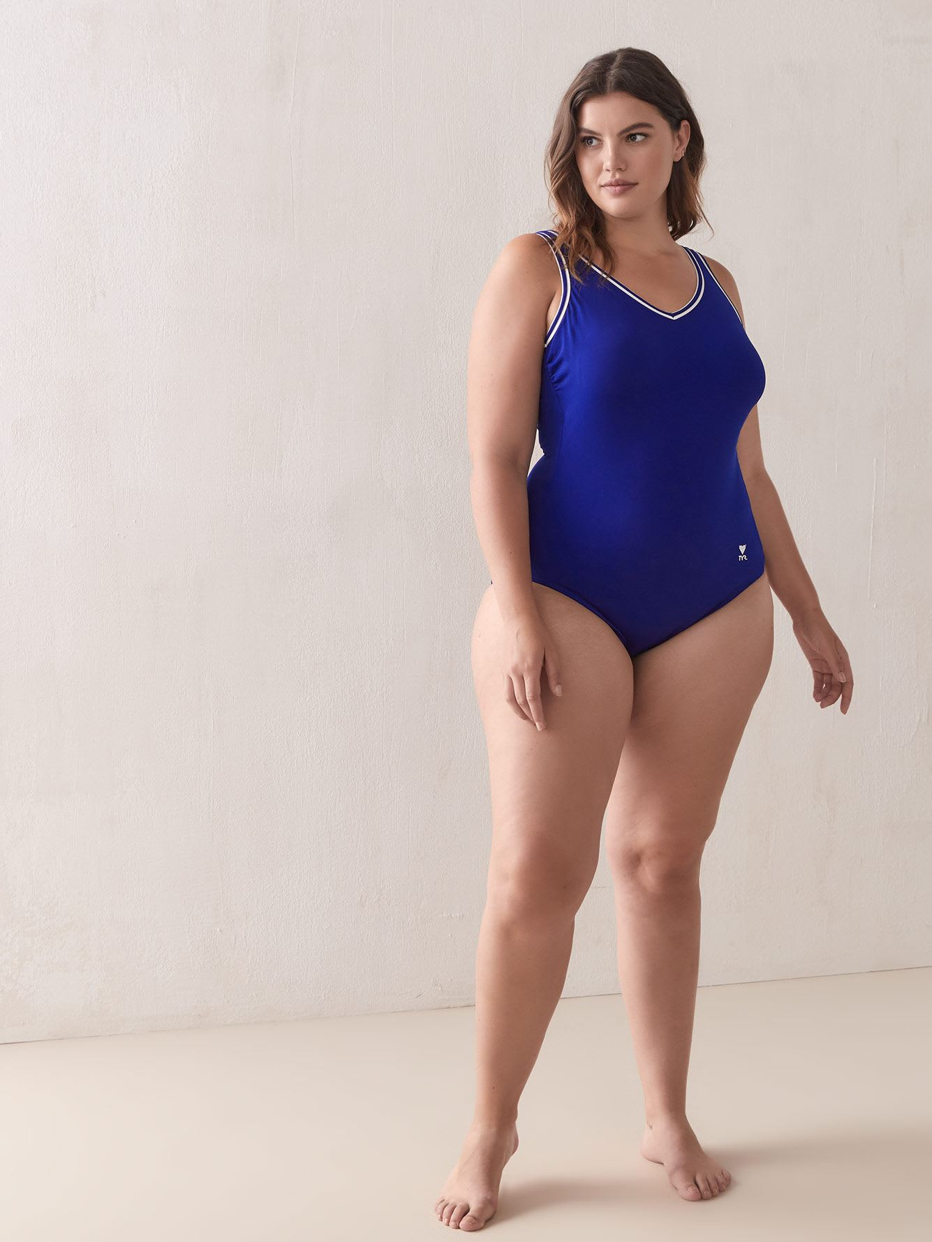 One-Piece Swimsuit with Contrasting Bands - TYR