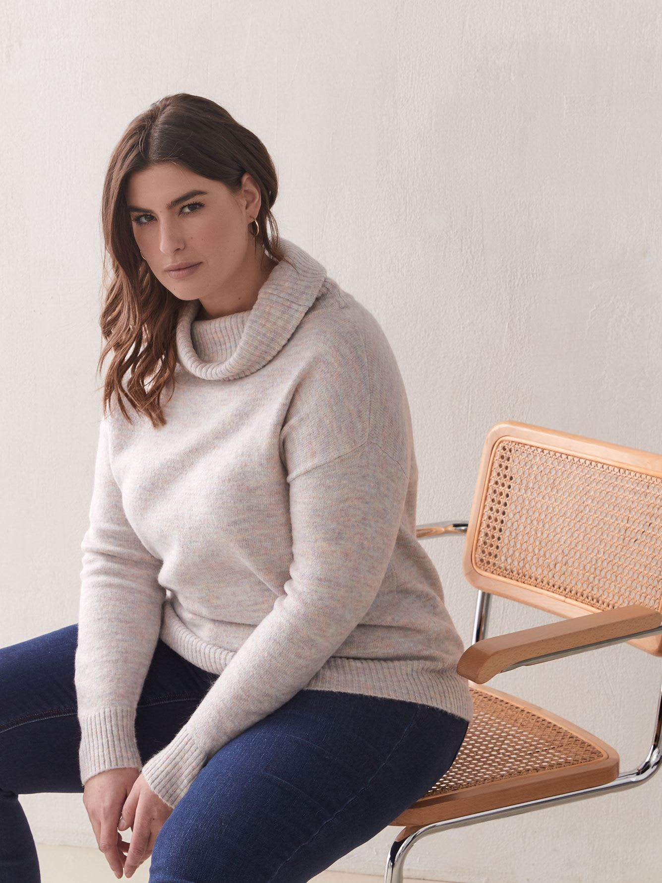 Wide Funnel-Neck Sweater - Addition Elle