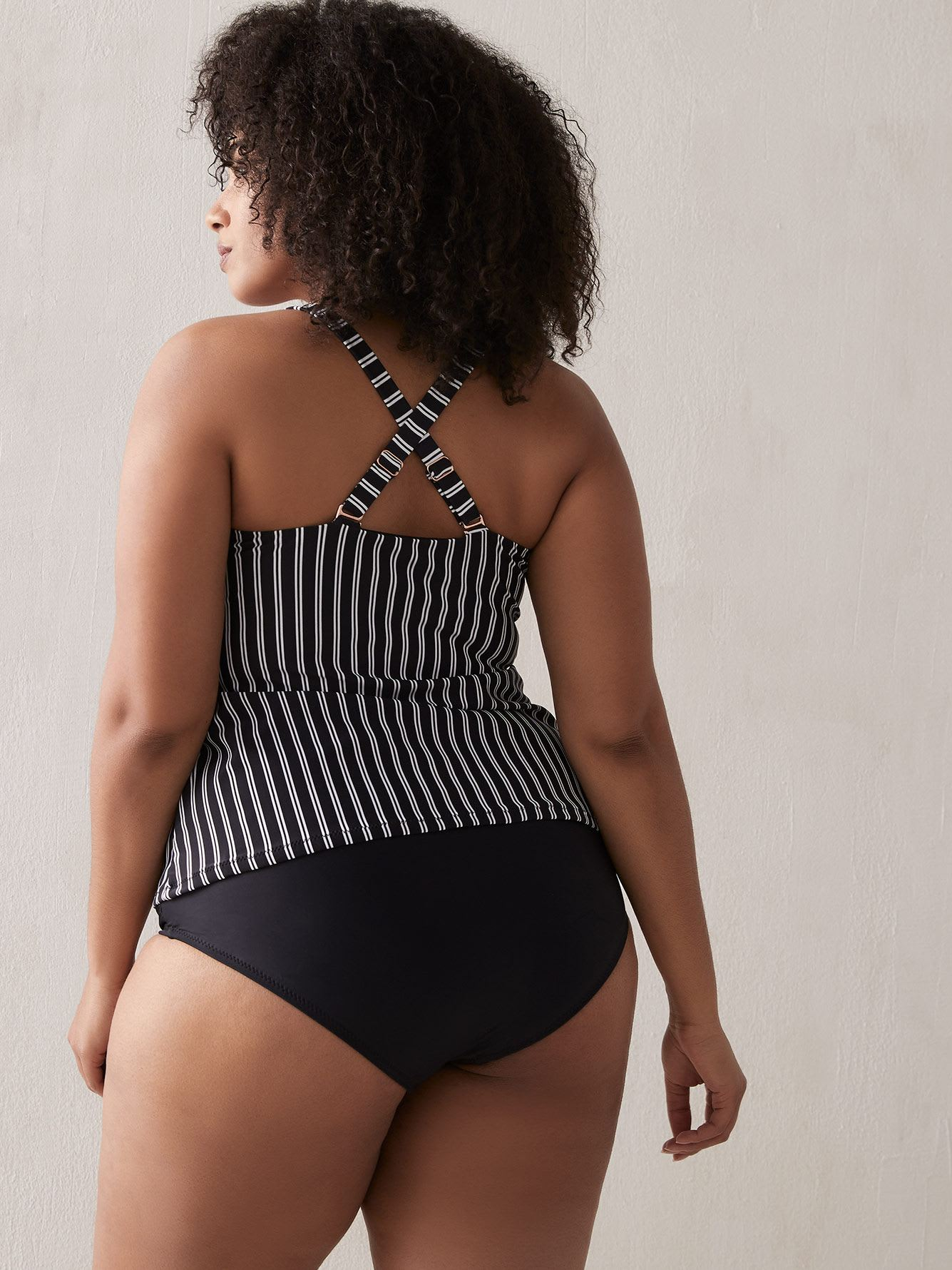 Striped Del Mar Zanzibar Tankini Top - Raisins Curve