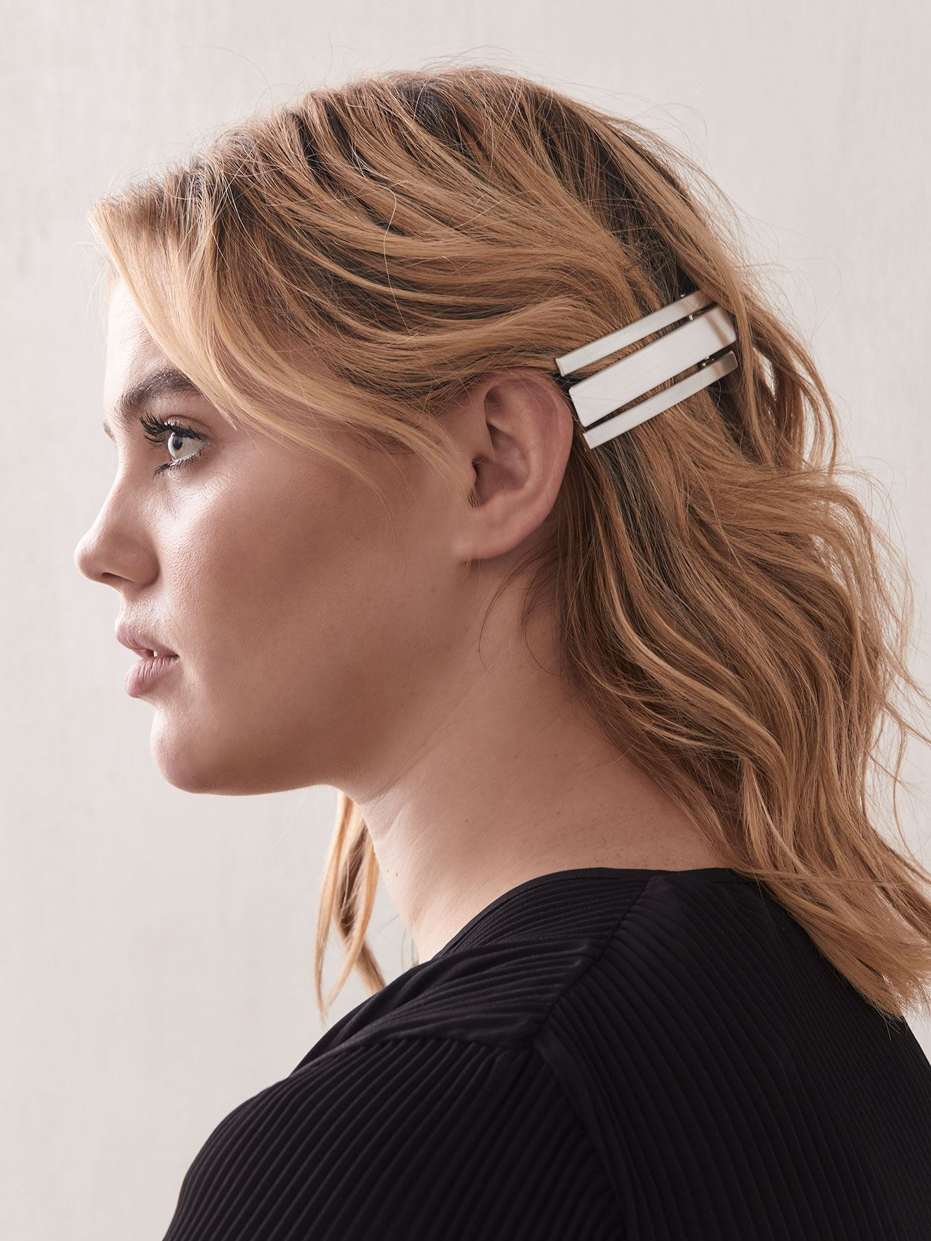 Shiny Hair Barrettes, Pack of 3 - Addition Elle