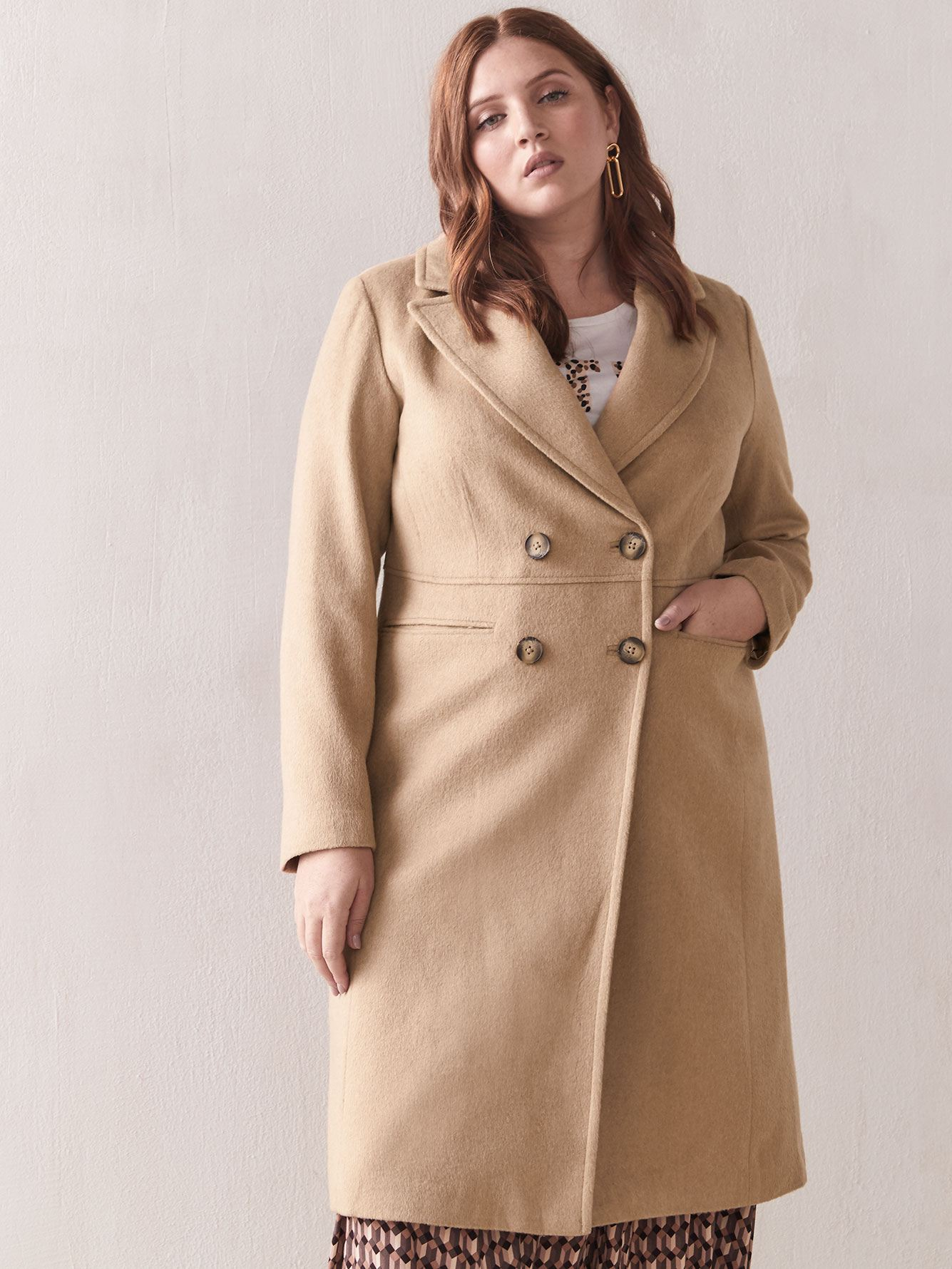 Manteau en lainage chameau - Addition Elle