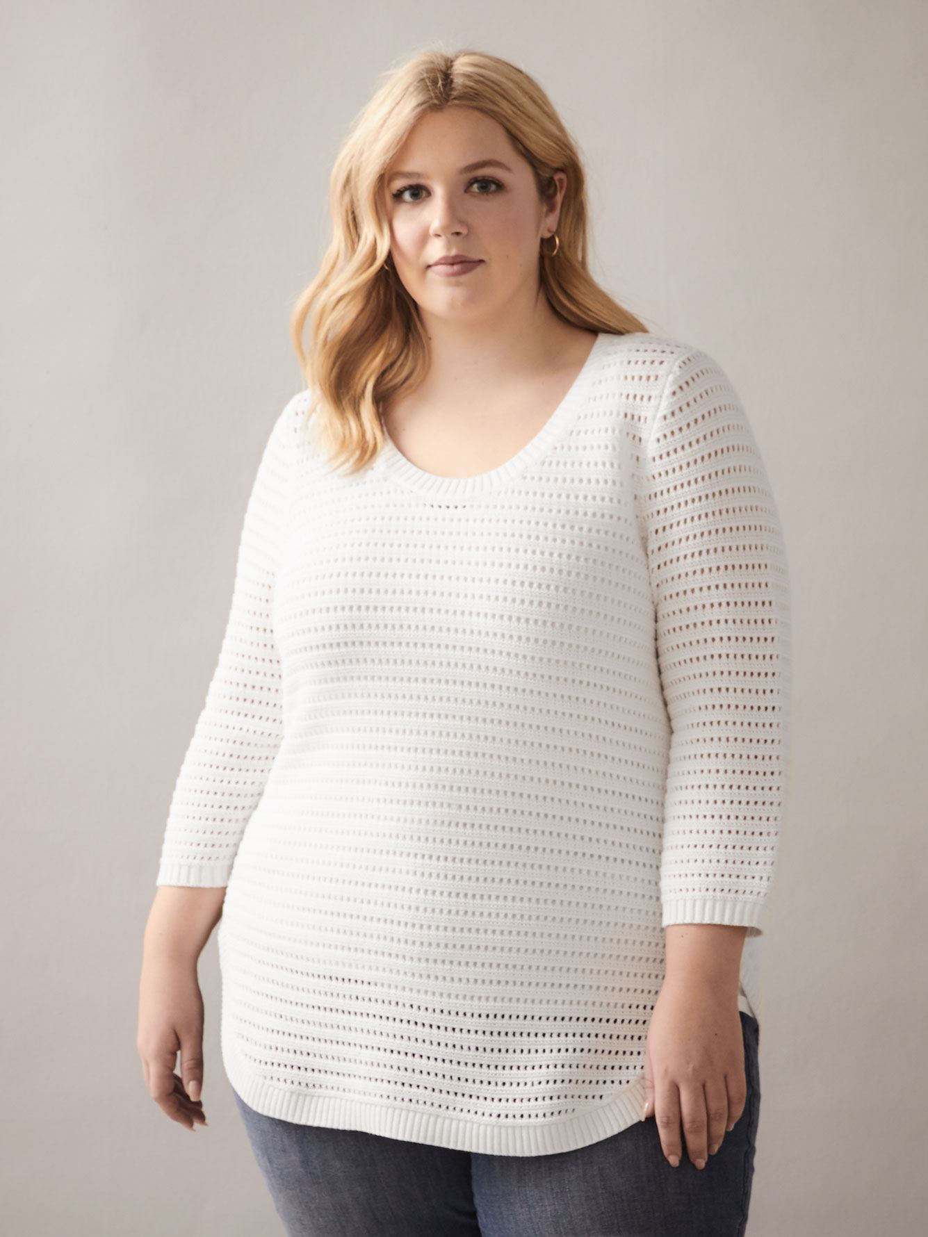 Open Stitch Scoop-Neck Sweater - In Every Story