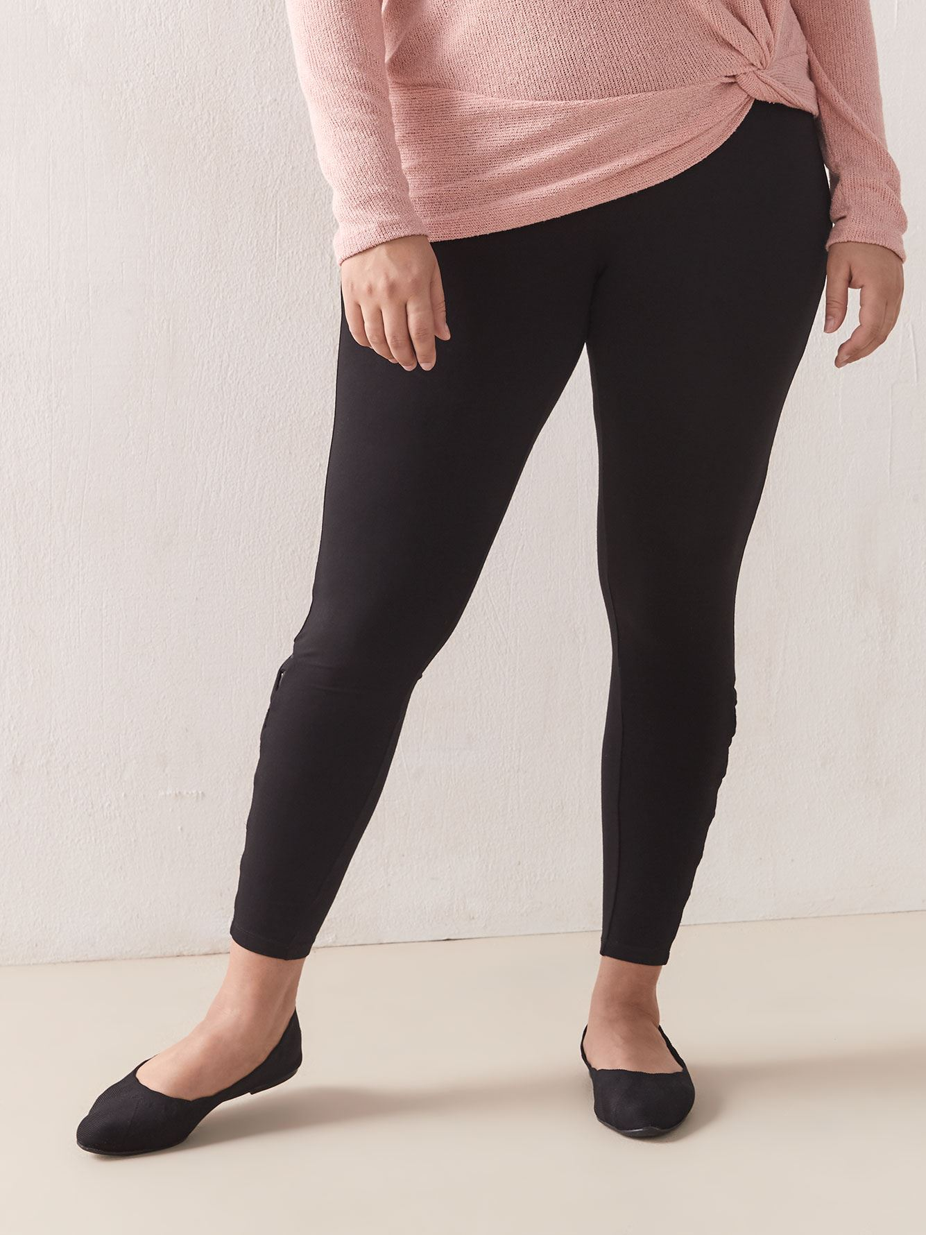 Lace & Mesh Detail Legging - Addition Elle