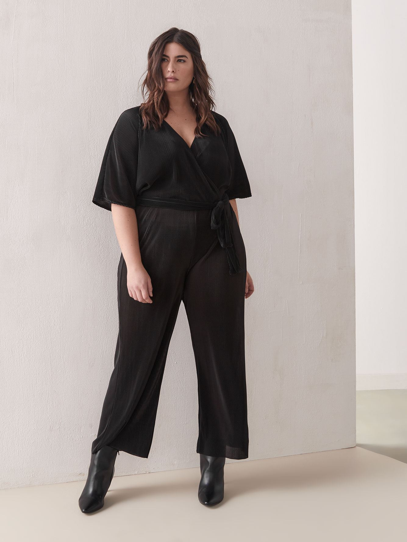 Wide-Leg Maxi Belted Jumpsuit - Addition Elle