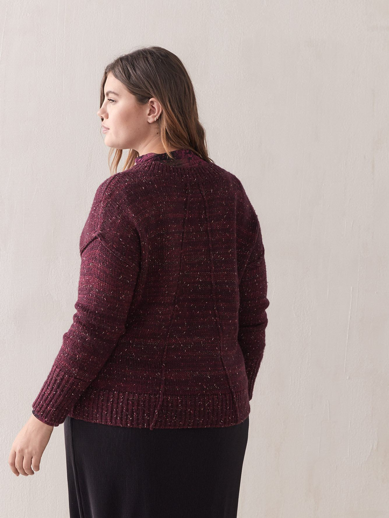 Lurex Knit Sweater - Addition Elle
