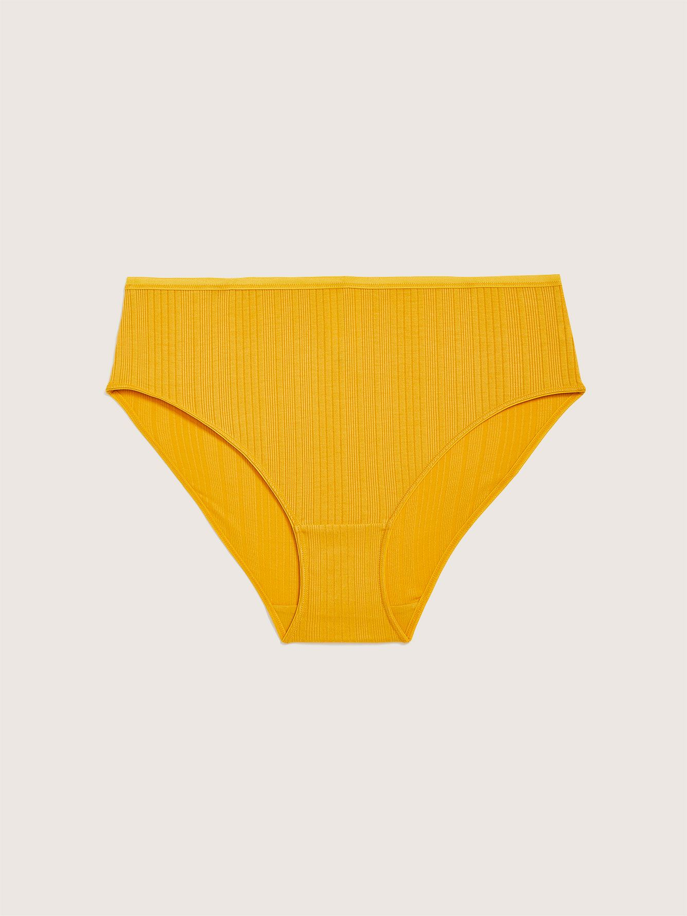 Ribbed High Cut Brief Panty - Addition Elle