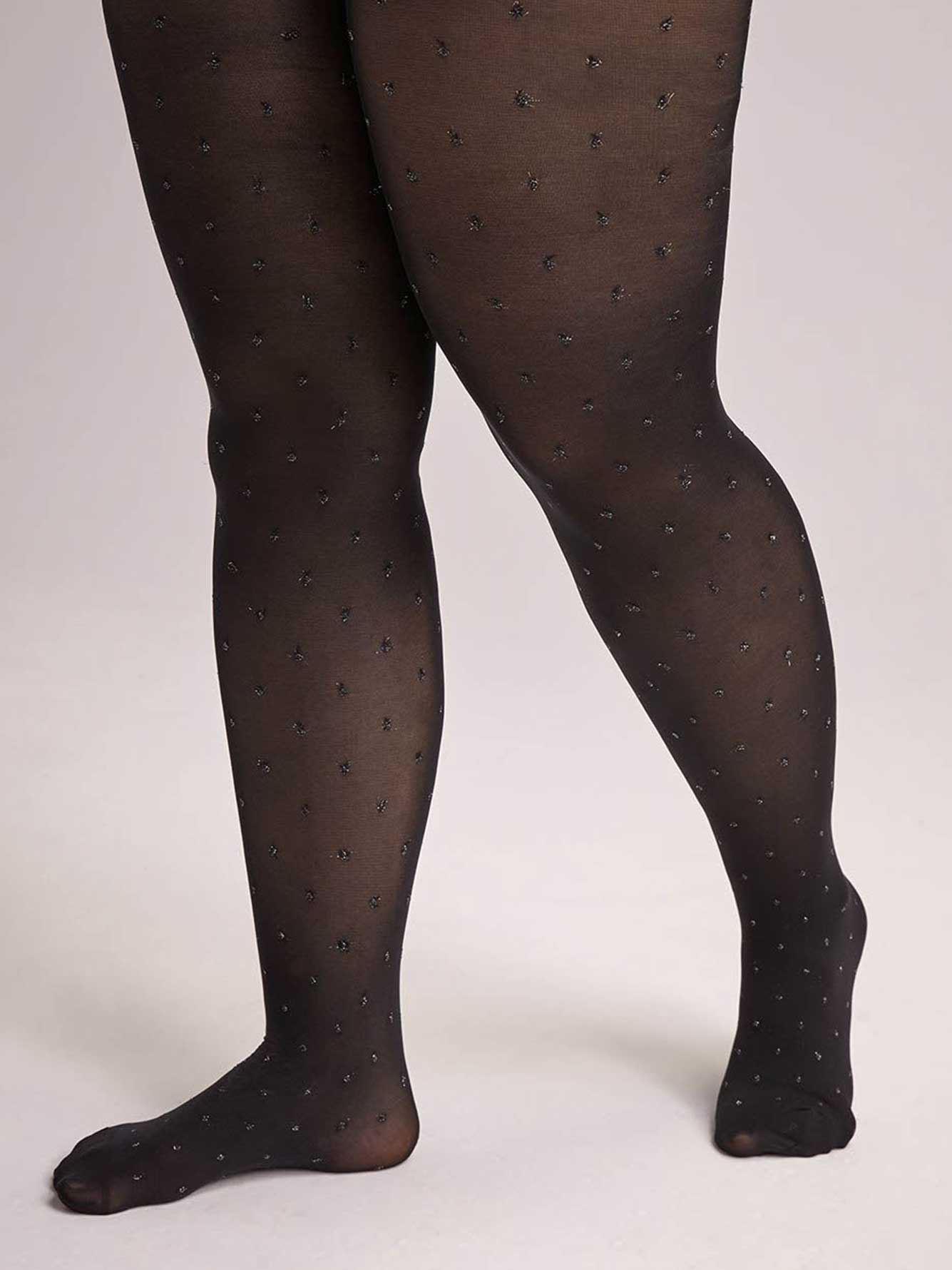 Sheer Tights with Lurex Dots
