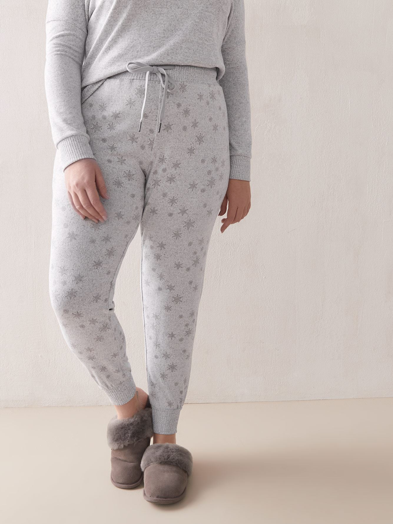 Pantalon de pyjama en tricot imprimé - Addition Elle