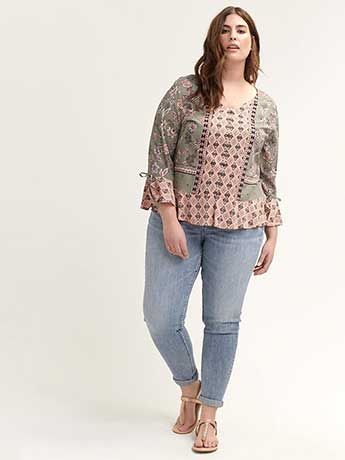 Flutter Sleeve Printed Blouse - In Every Story