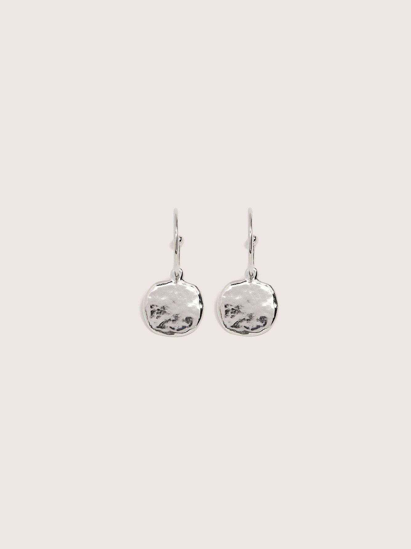 Rhodium Plated Moonwalk 2-in-1 Hoop Earrings - Biko
