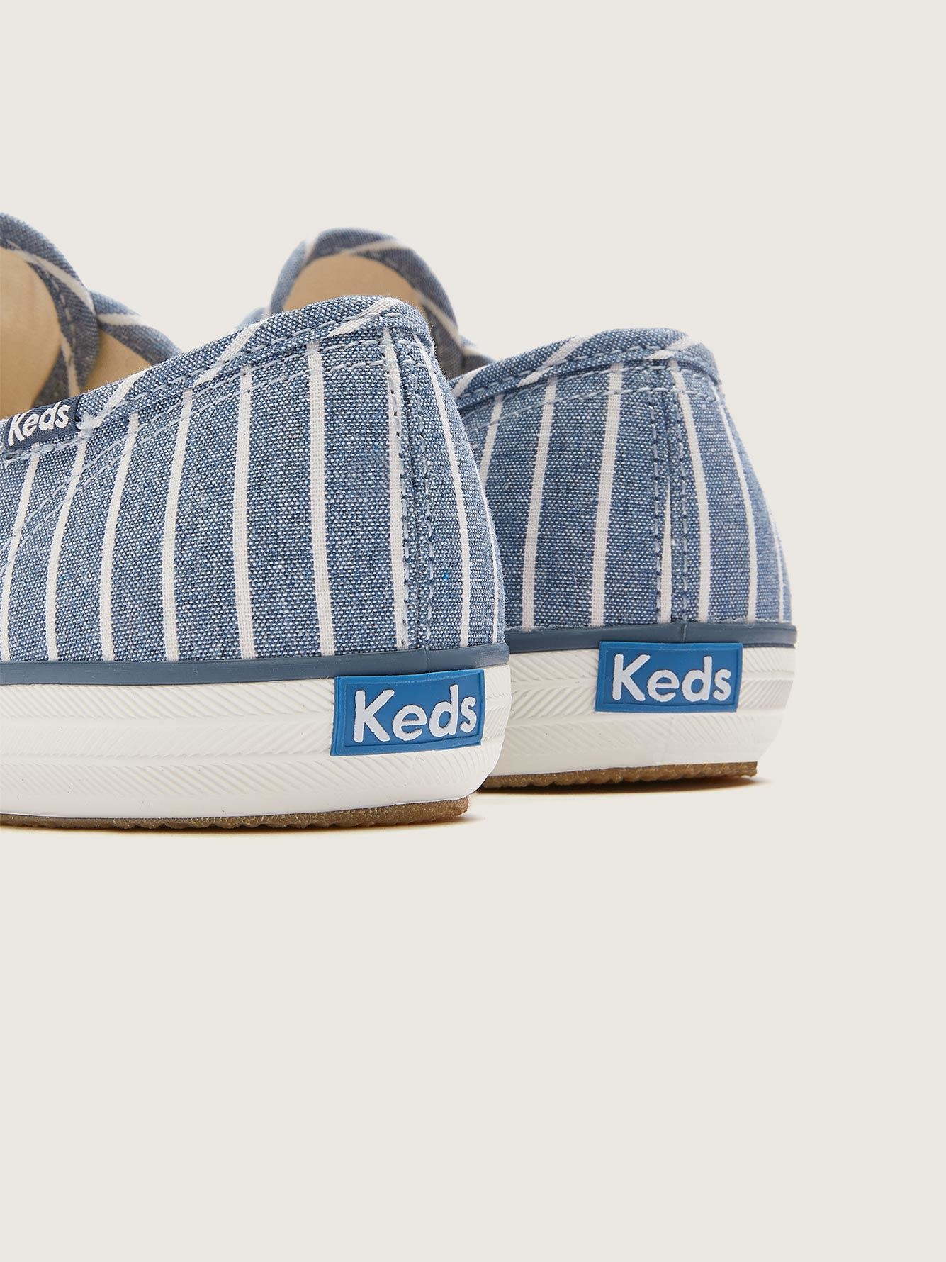 Wide Champion Breton Stripe Canvas Sneaker - Keds