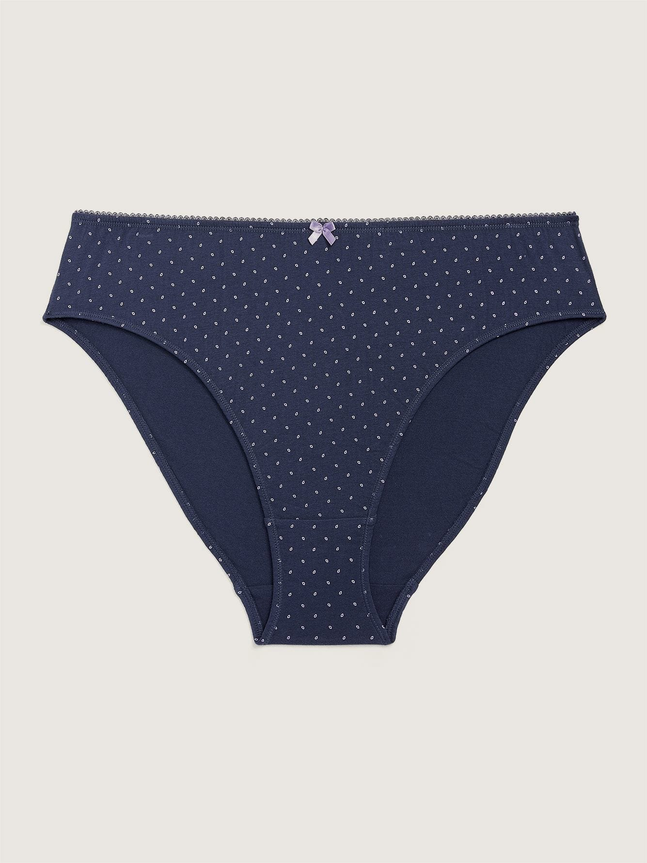 Printed Cotton High Cut Brief Panty