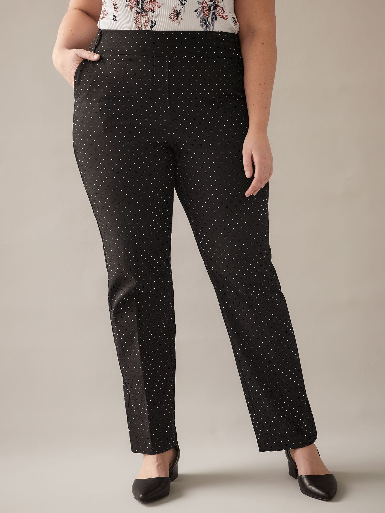 Petite, Printed Straight-Leg Pant - In Every Story