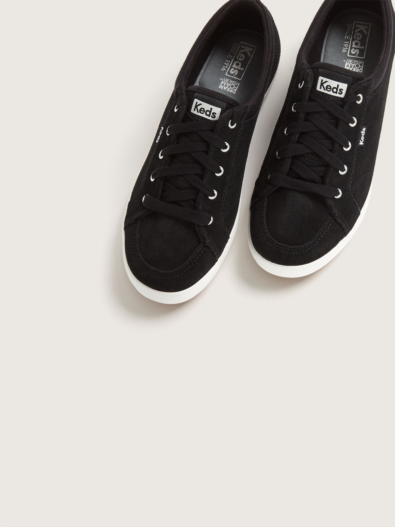 Wide Slip-On Suede Center Sneakers - Keds