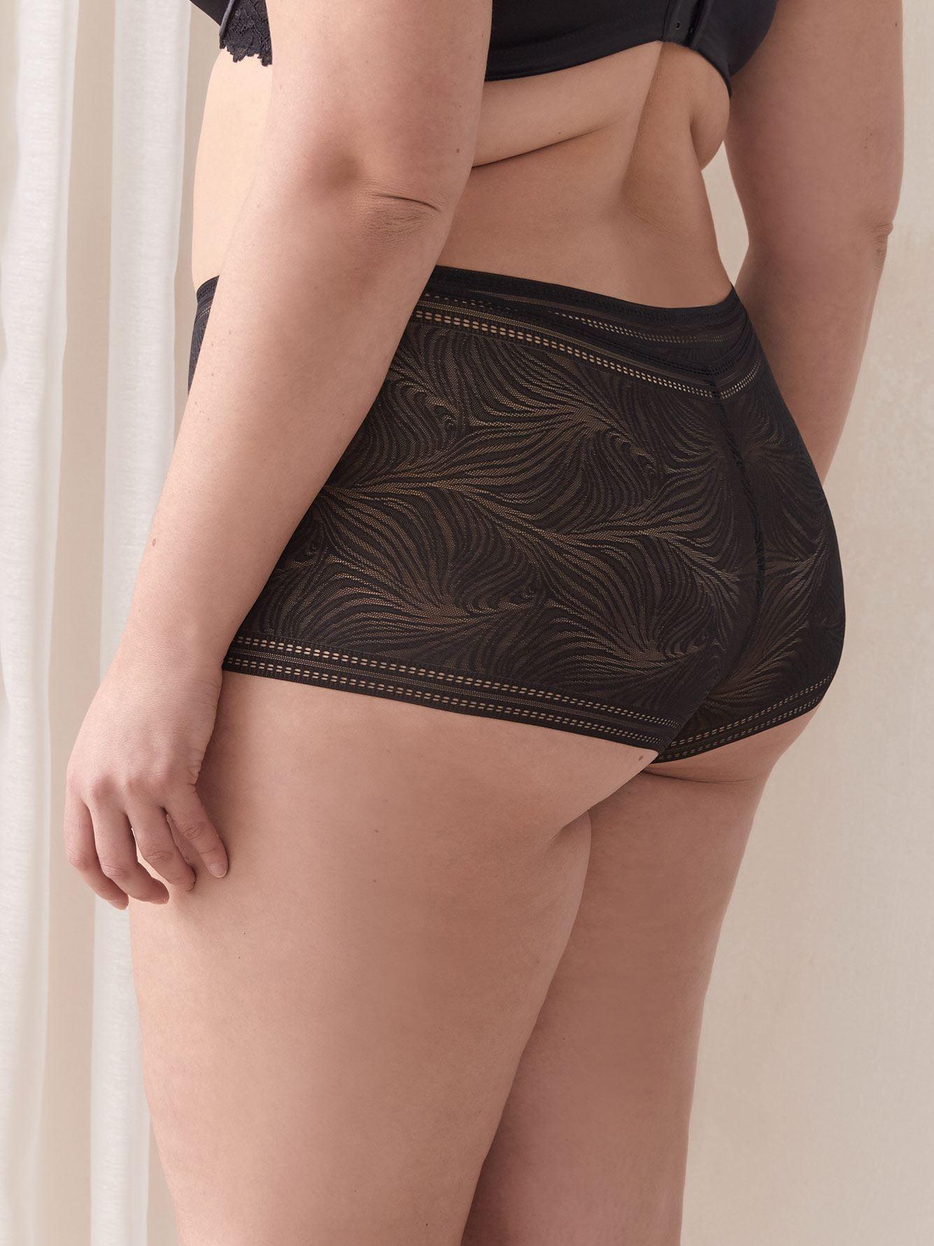 Solid Lace Boyshort Panty - Addition Elle