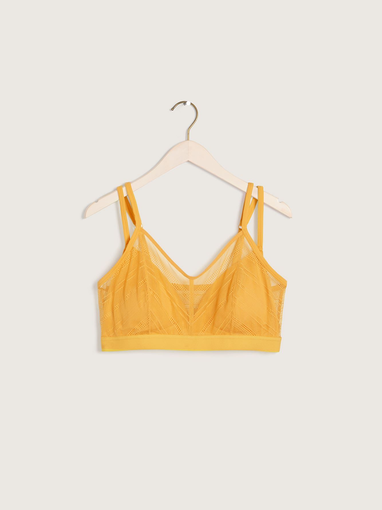 Microfiber and Lace Bralette