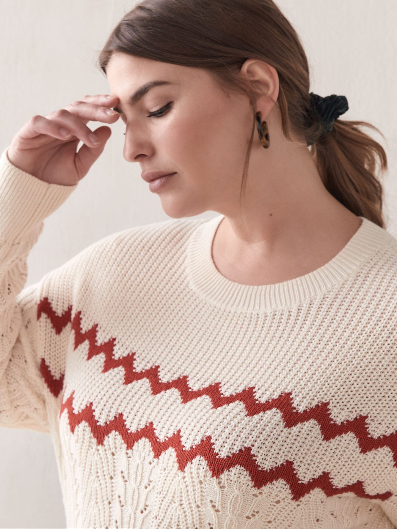 Shaker Stitch Cropped Sweater - Addition Elle