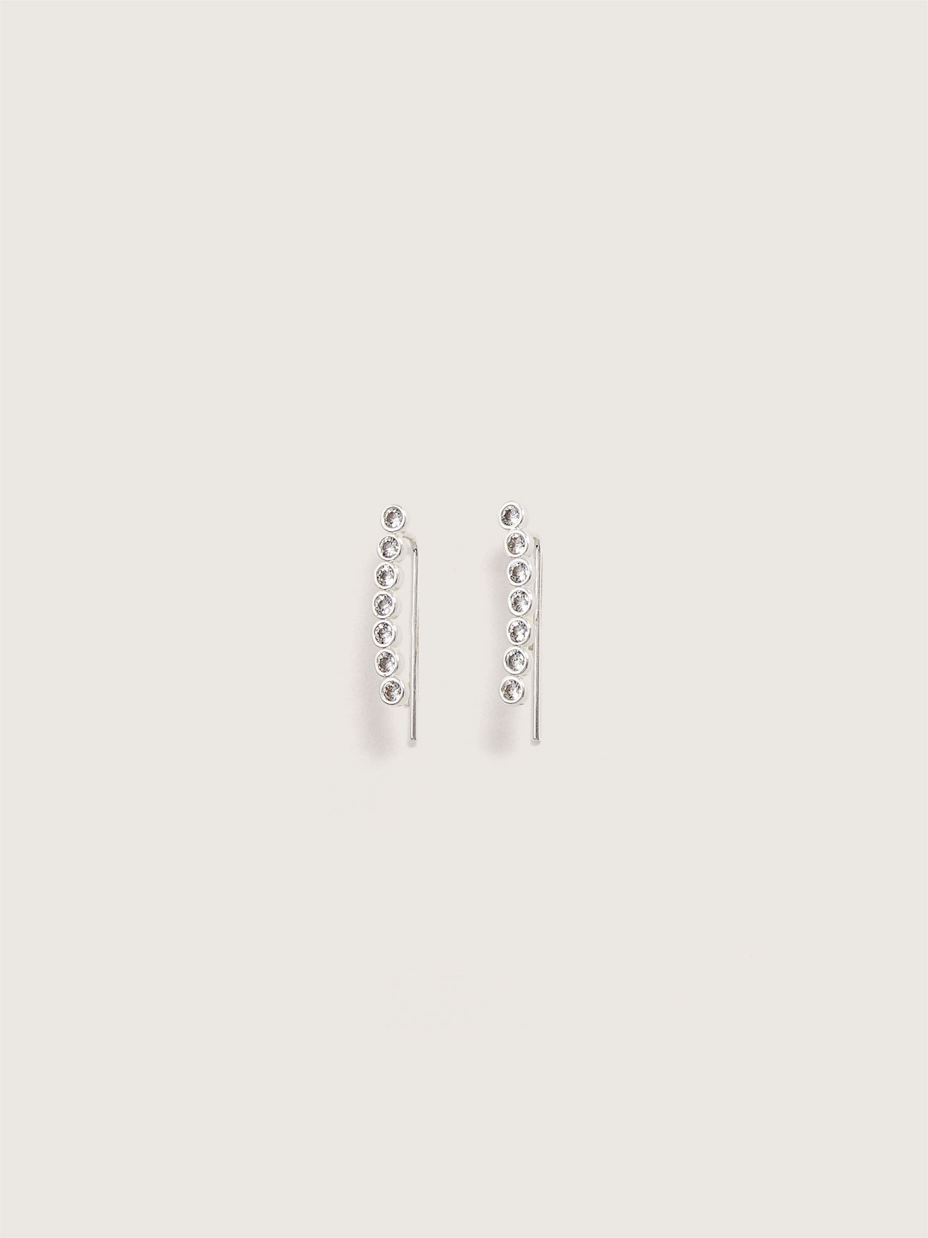 Cuff Earrings with Hematite Stone - Addition Elle
