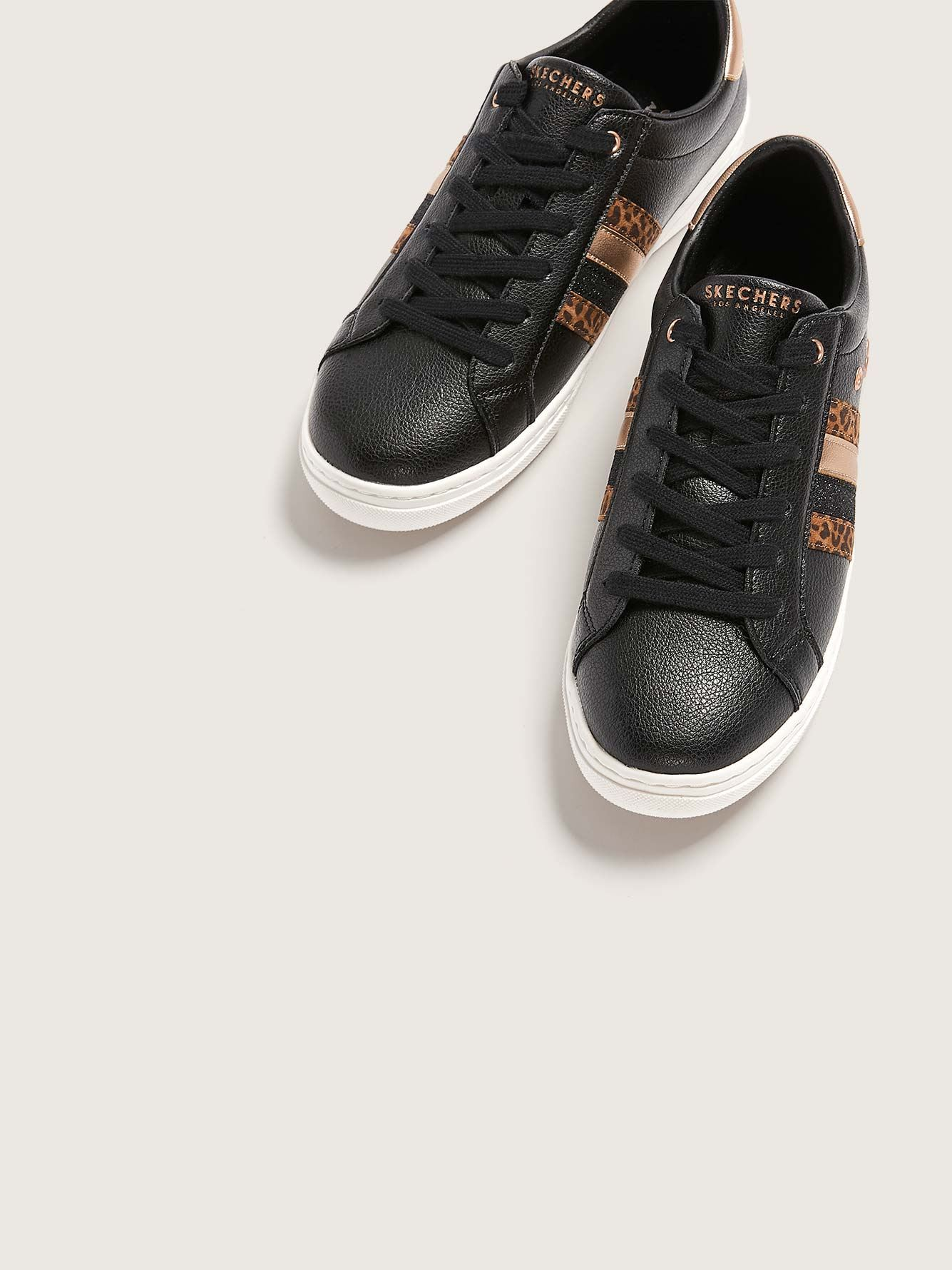 Wide Width Leather Sneakers - Skechers