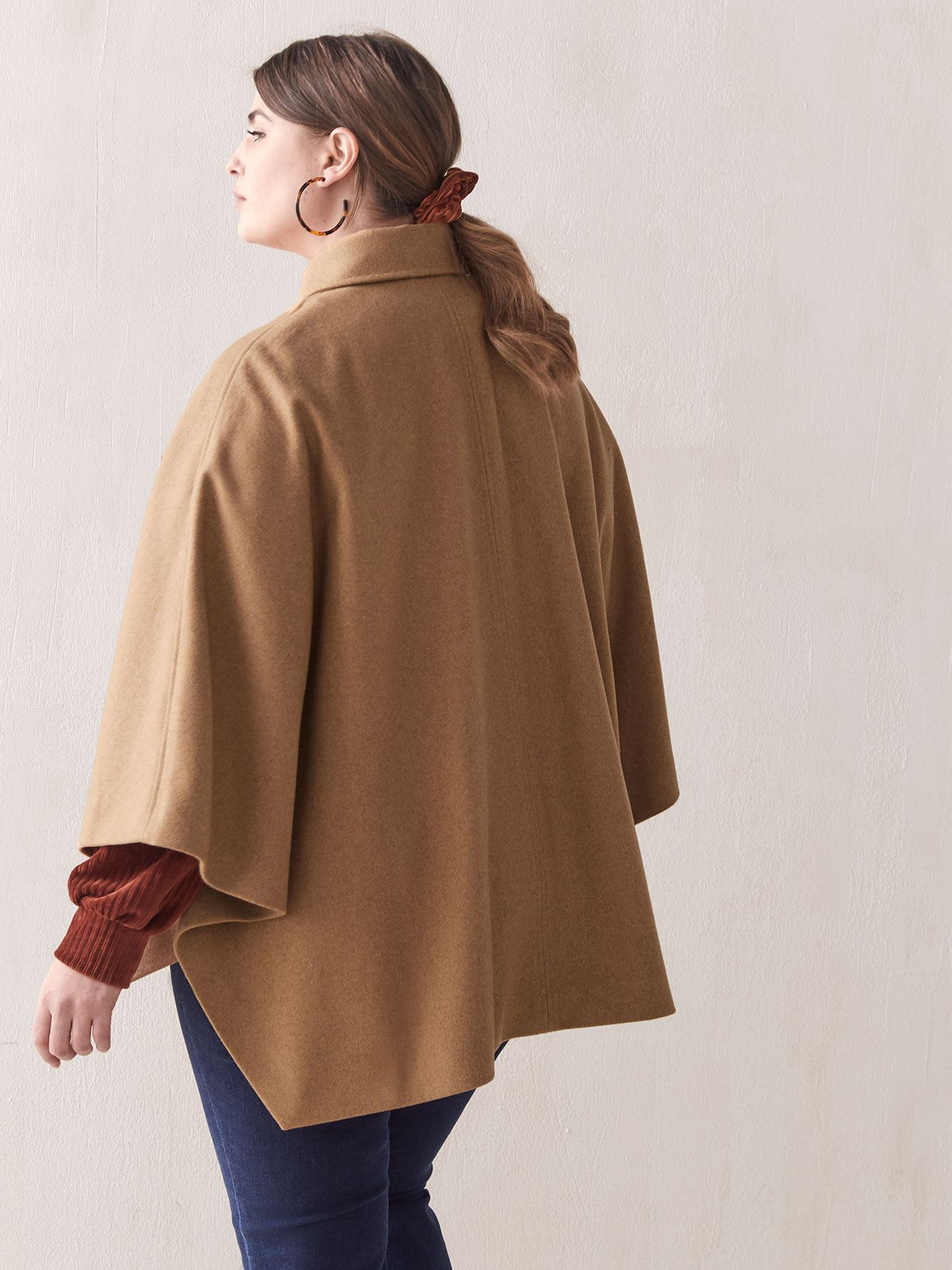 Hi-Low Wool Cape - Addition Elle