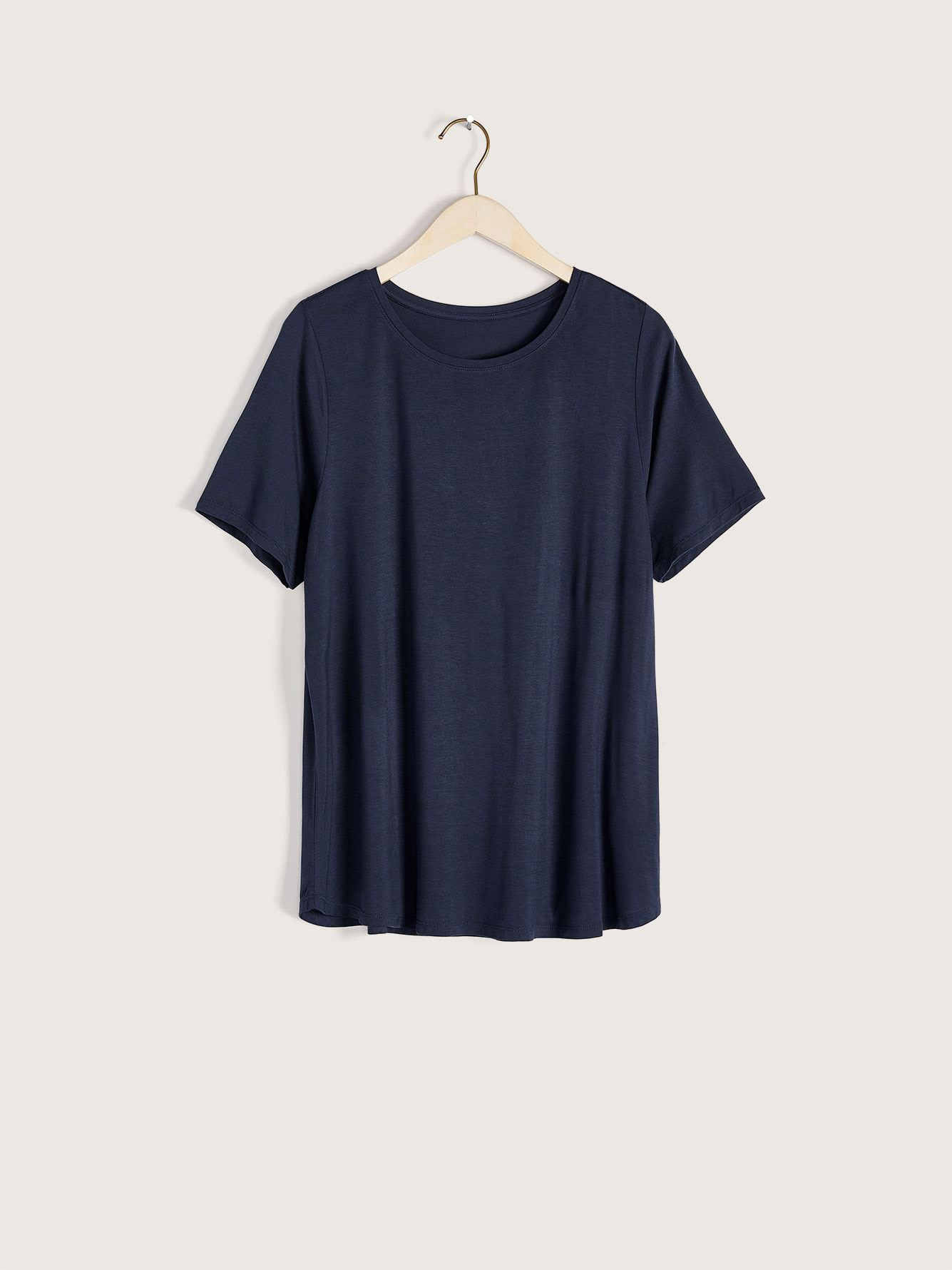 Modern Viscose & Elastane T-Shirt - Addition Elle