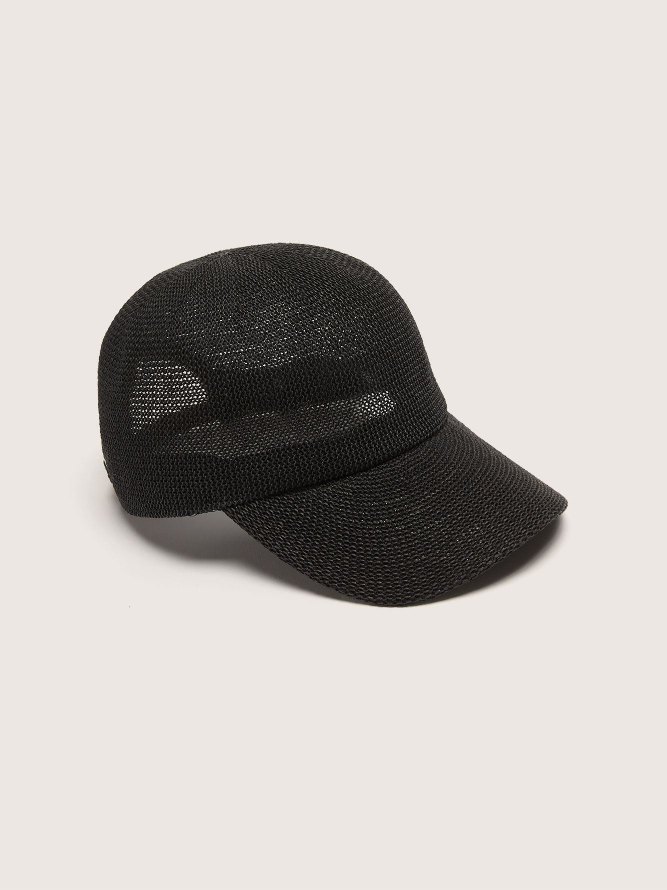 Packable Straw Baseball Cap - Addition Elle