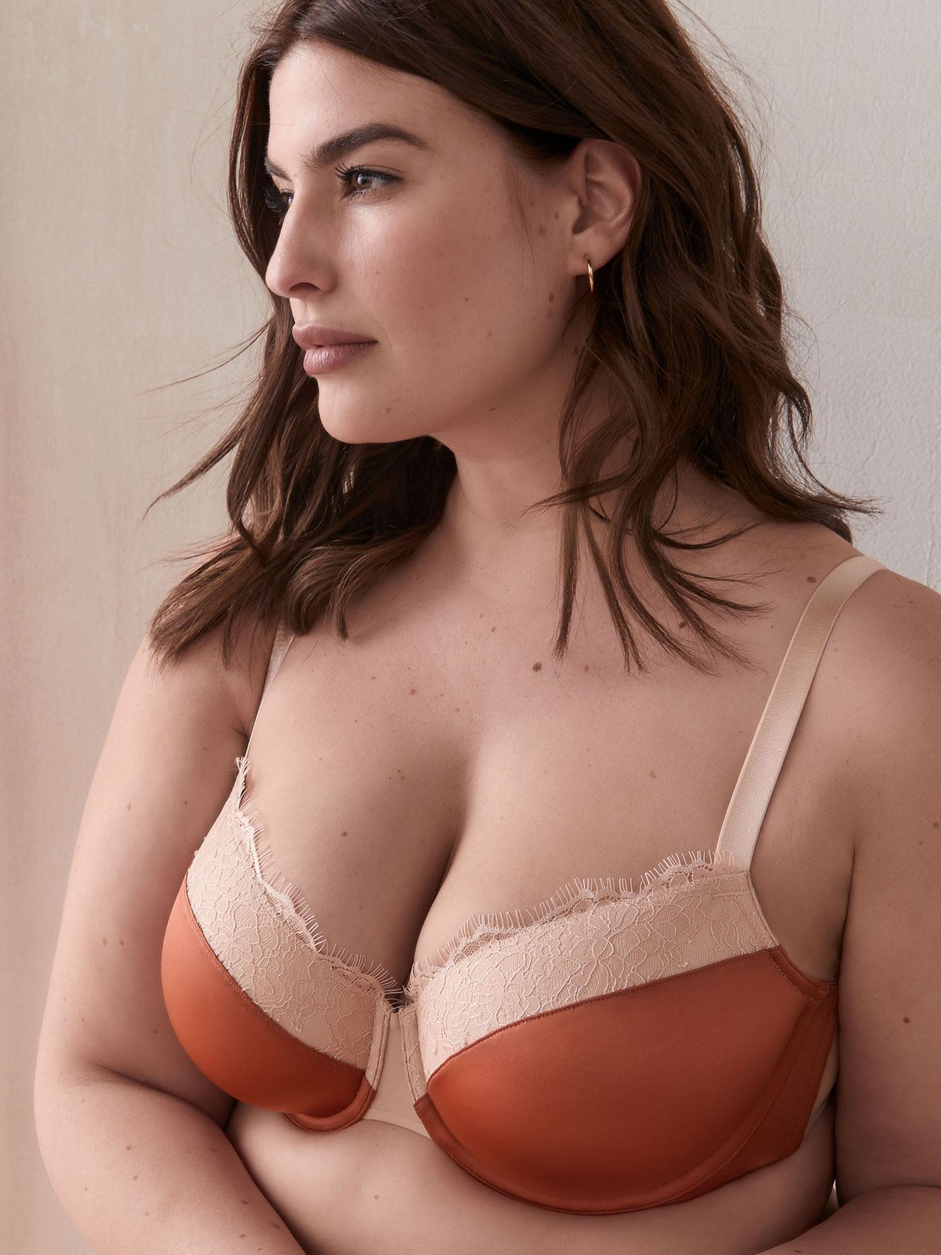 Demi Cup Bra with Lace, G & H Cups