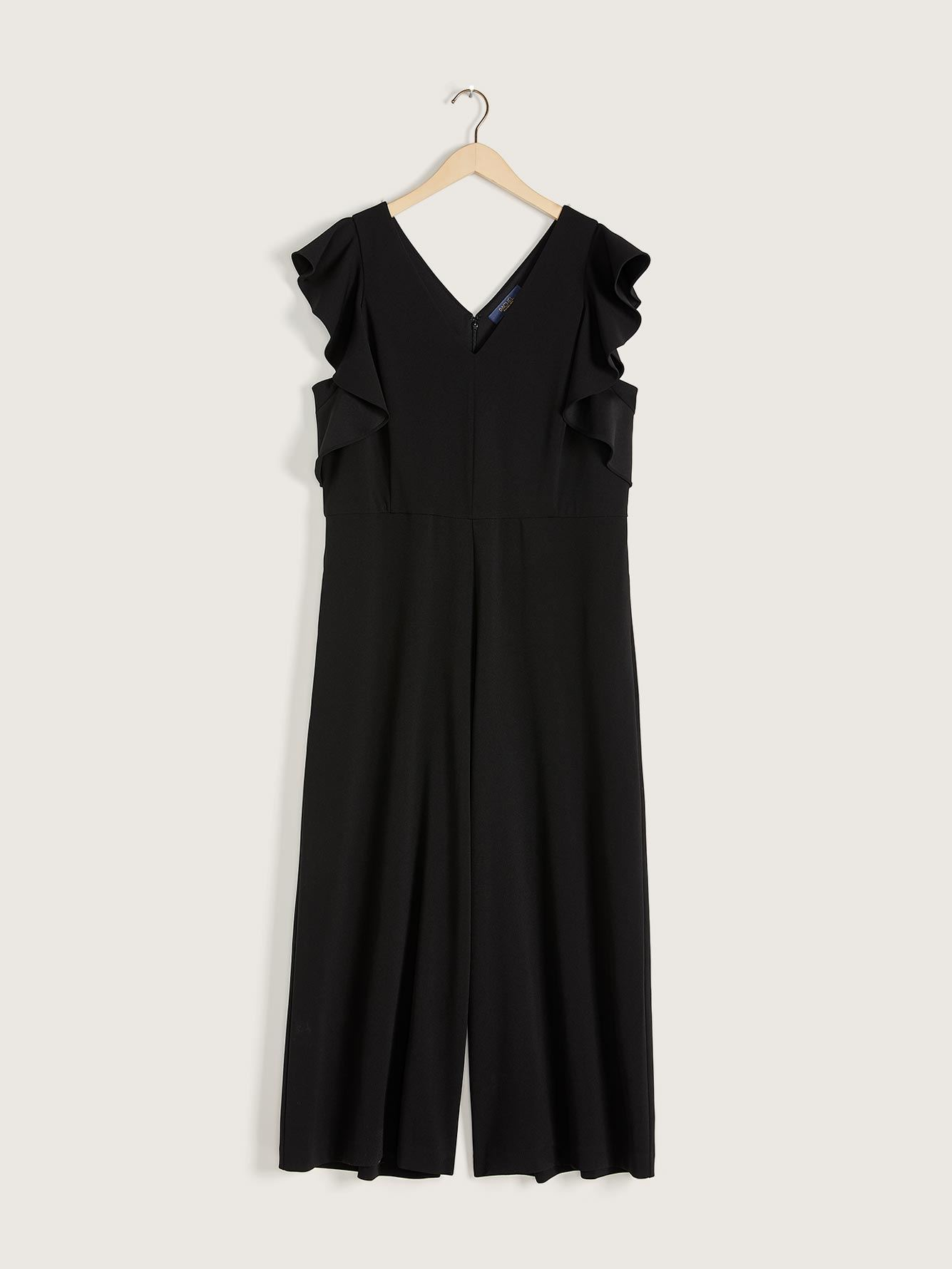 Ankle Length Short Flutter Sleeve Jumpsuit - RACHEL Rachel Roy