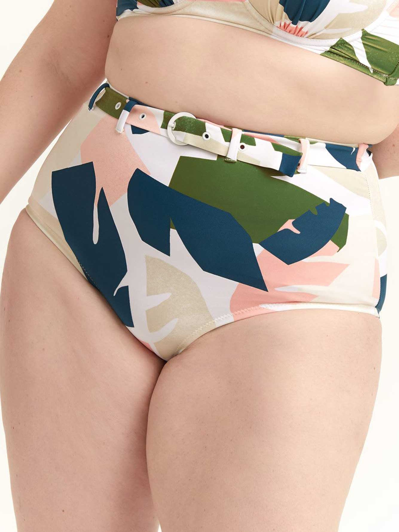 High Waist Swim Bottom - Raisins Curve