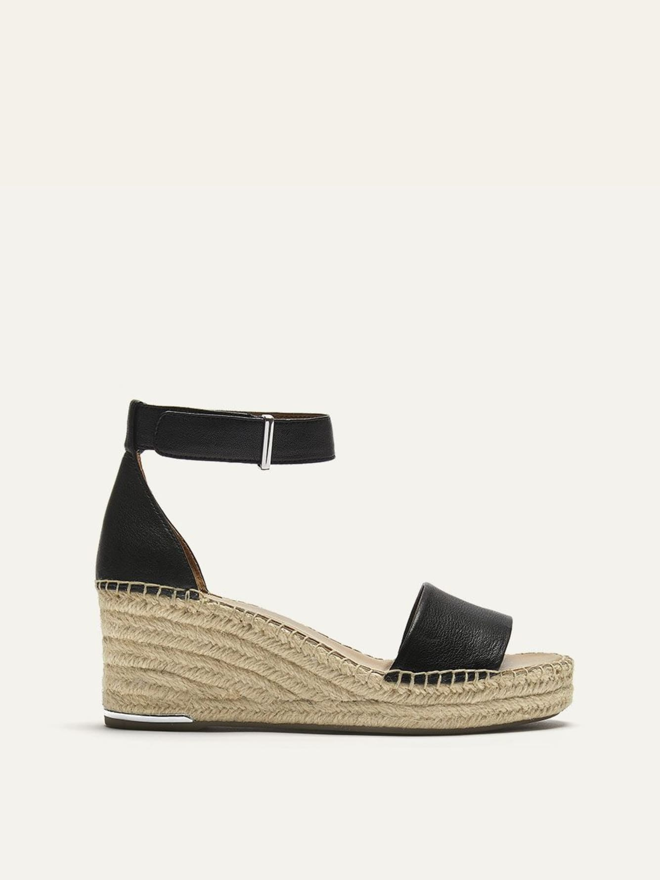 Wide Wedge Leather Sandals - Franco Sarto