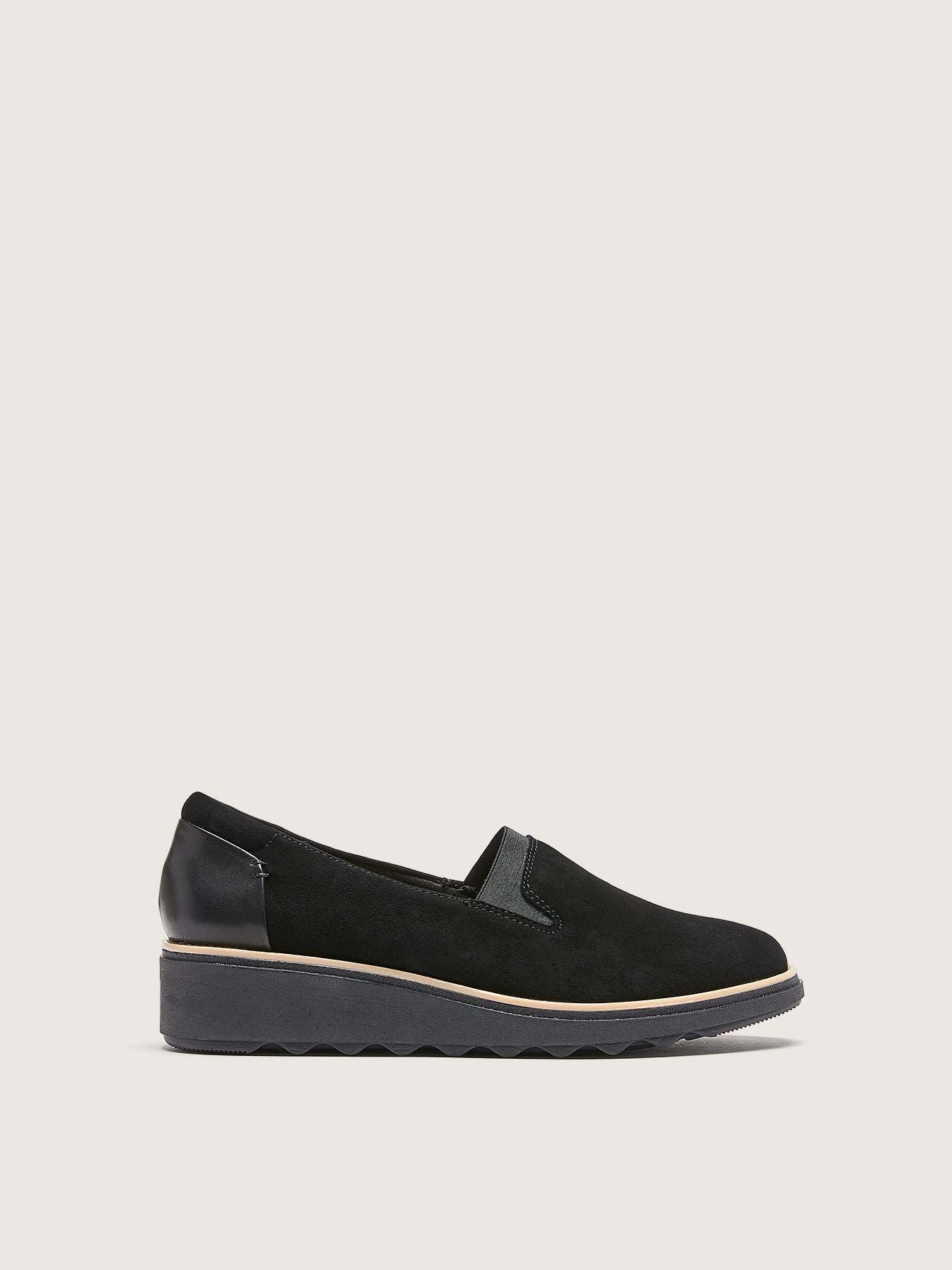Wide Sharon Dolly Slip On Wedge Shoes - Clarks