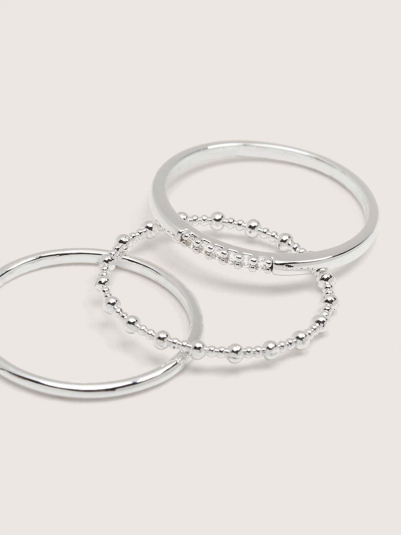 Real Plated Stackable Rings, 3-Pack - Addition Elle