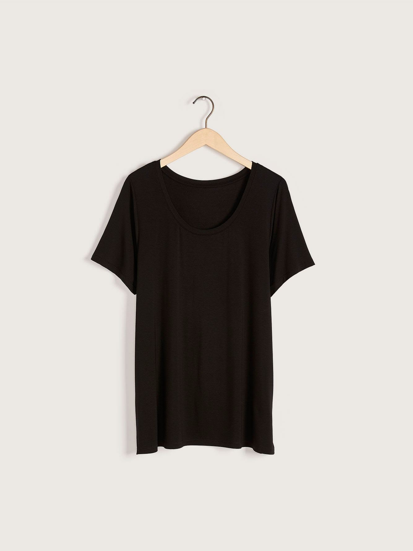 Modern-Fit Solid Scoop-Neck T-Shirt