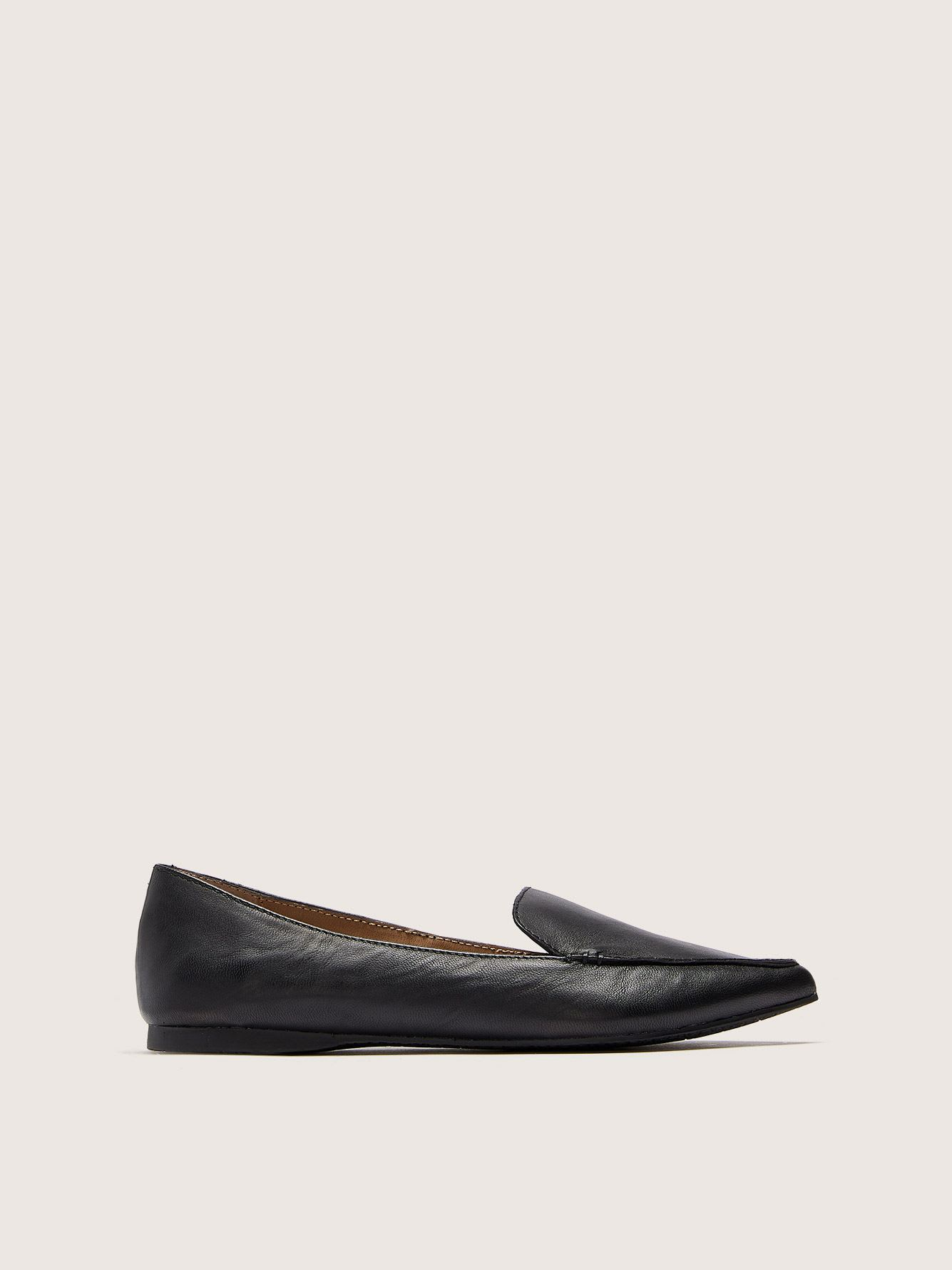 Wide Width Pointed Toe Feather Loafers - Steve Madden