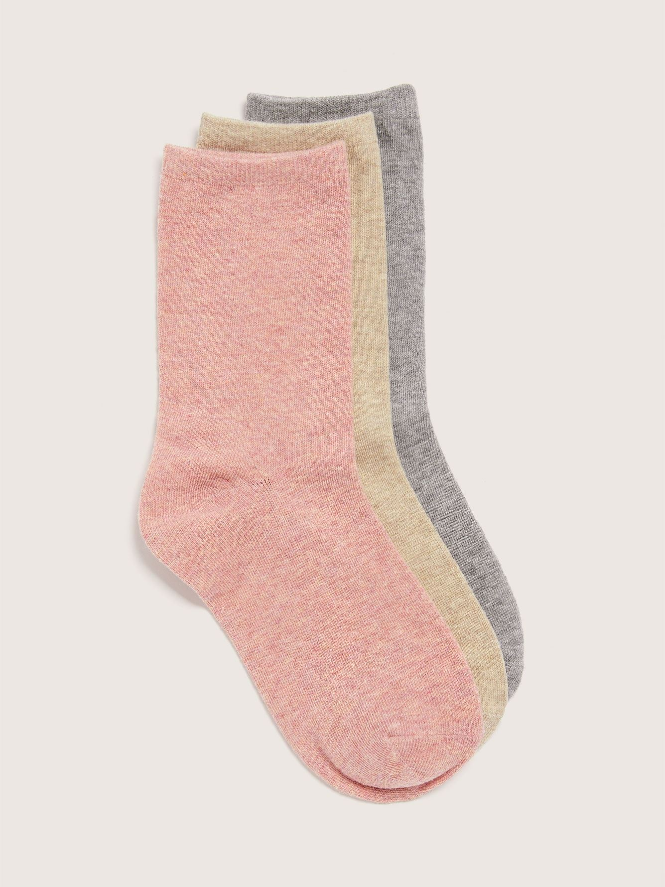 Cotton Fashion Socks, Pack of 3 - Addition Elle