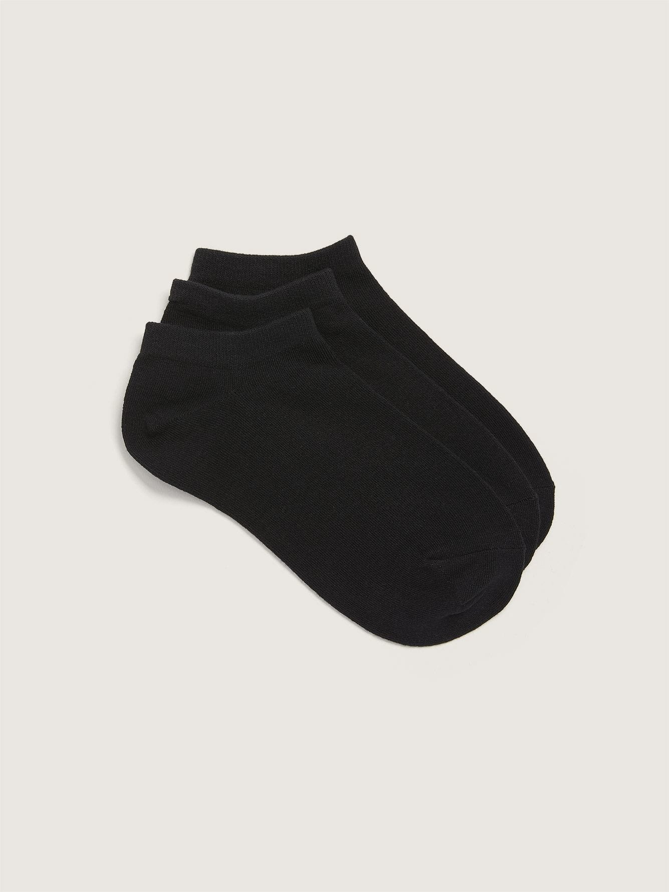 3 Pairs of Solid Ankle Socks