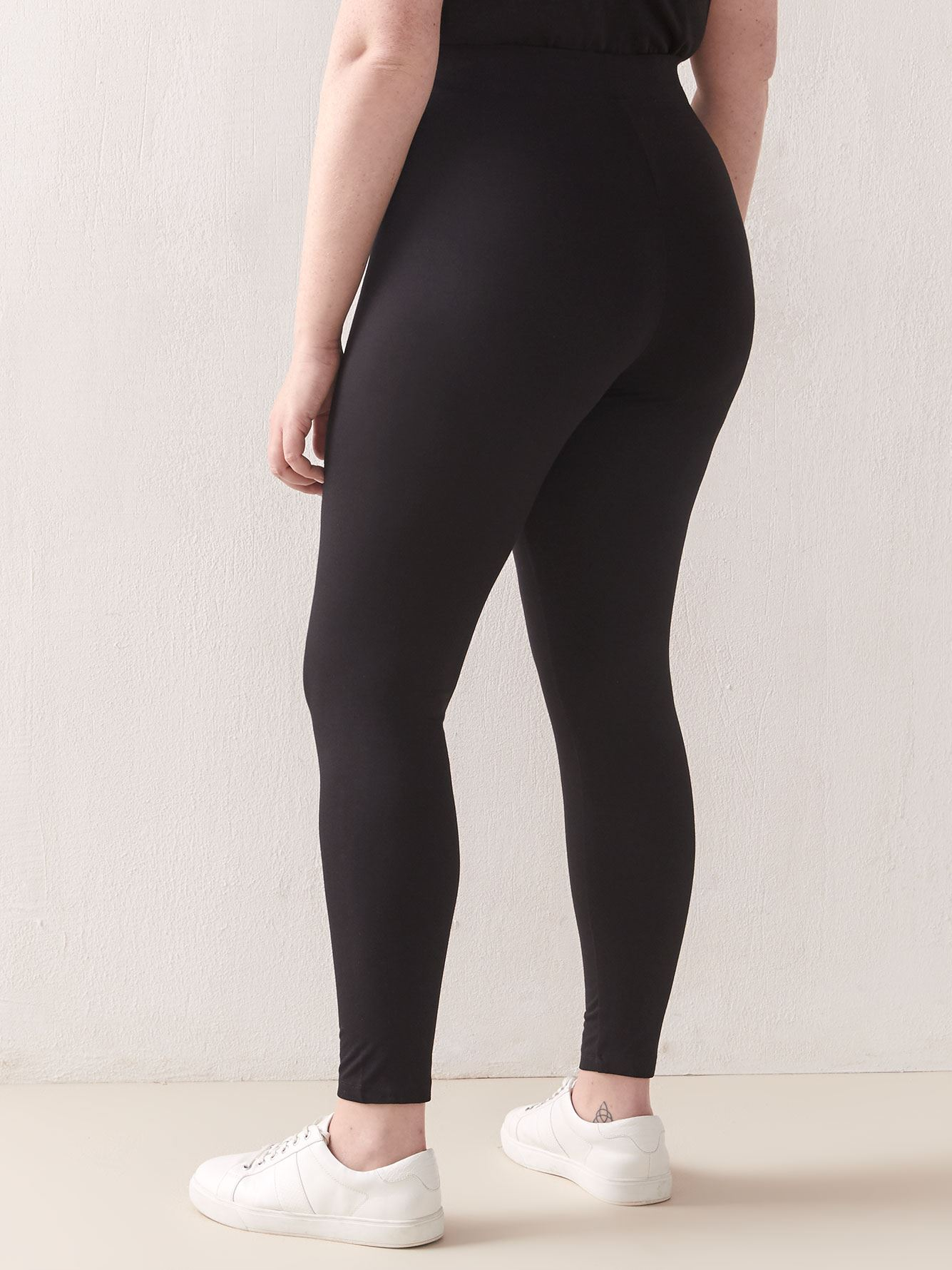 PETITE Wide Waistband Basic Legging - Addition Elle