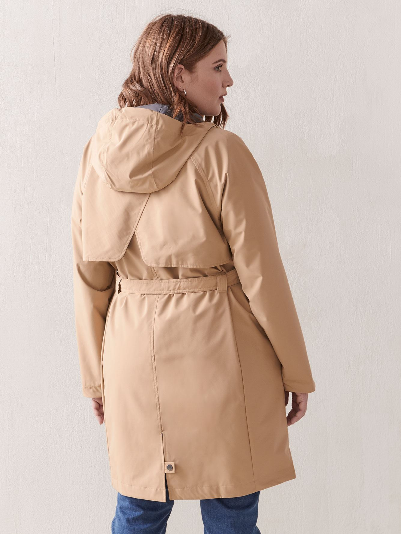 Here And There Long Trench Coat - Columbia