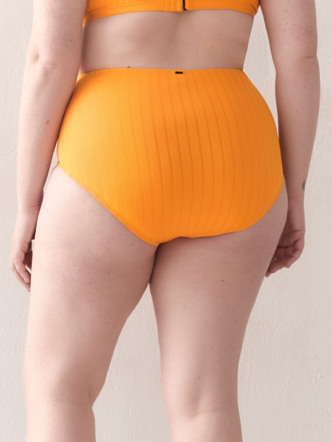 High Waist Ribbed Bikini Bottom - Everyday Sunday