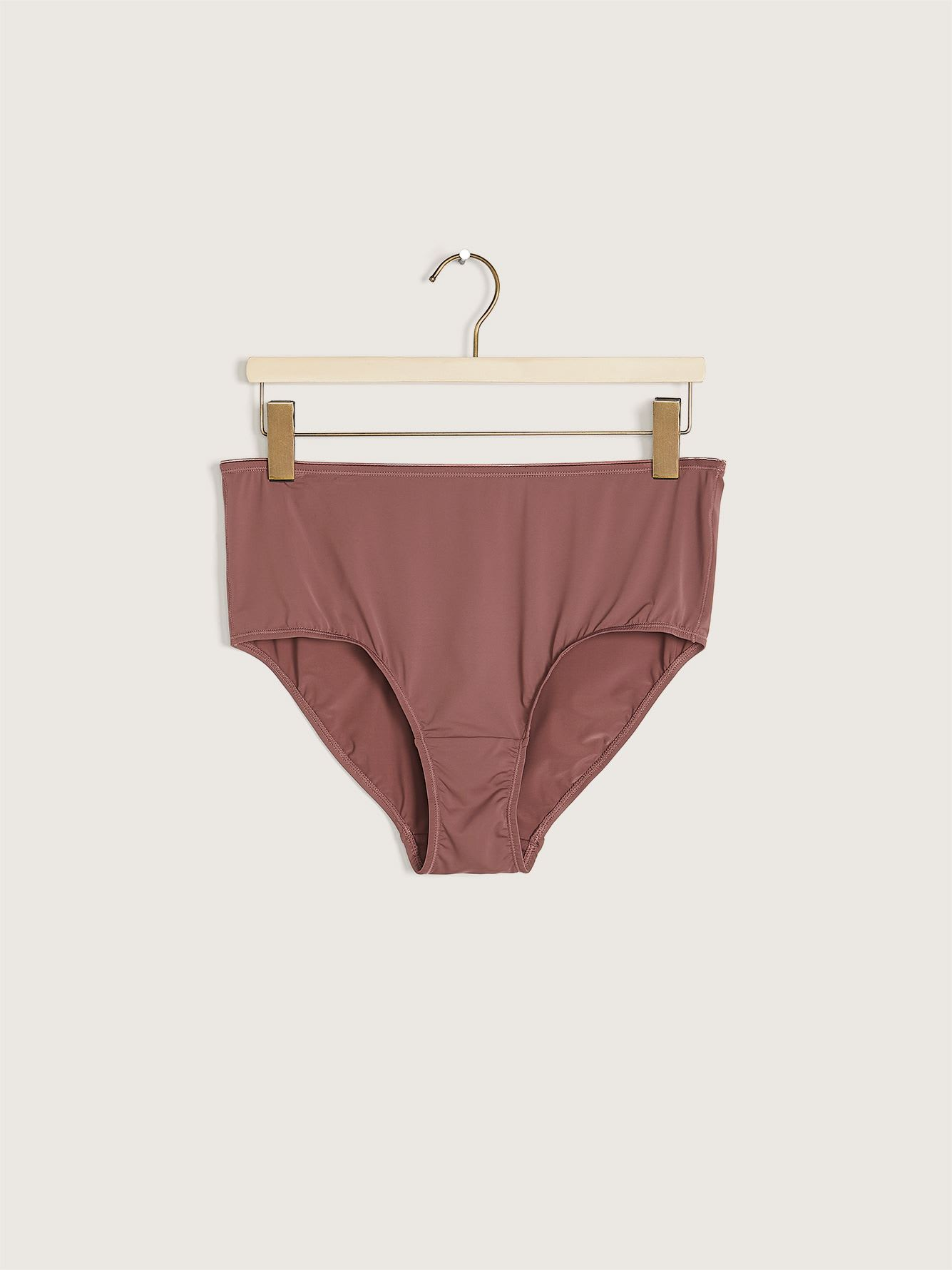 Solid Microfiber Brief Panty - Déesse Collection