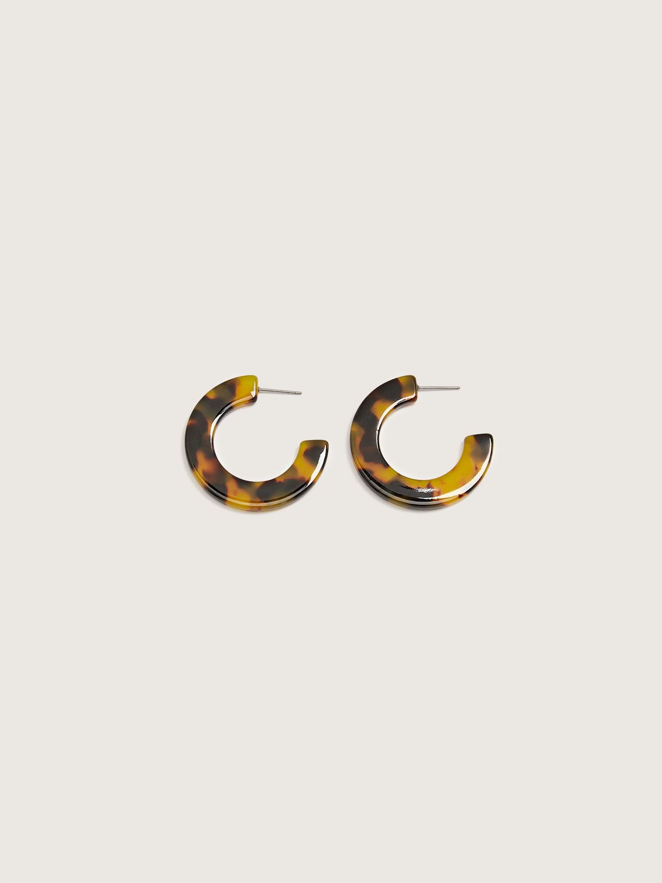 Flat Tortoise Hoops Earrings - Addition Elle
