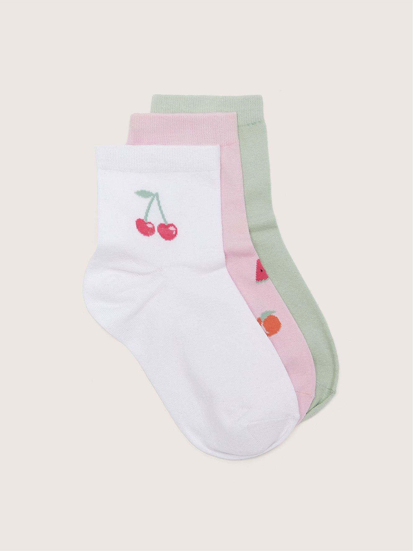 Fruit Fashion Socks, 3-Pack - Addition Elle