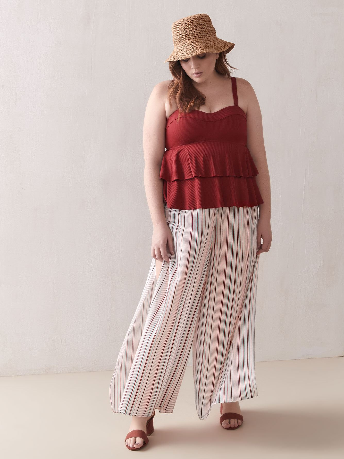 Striped Cover-Up Pants - Addition Elle
