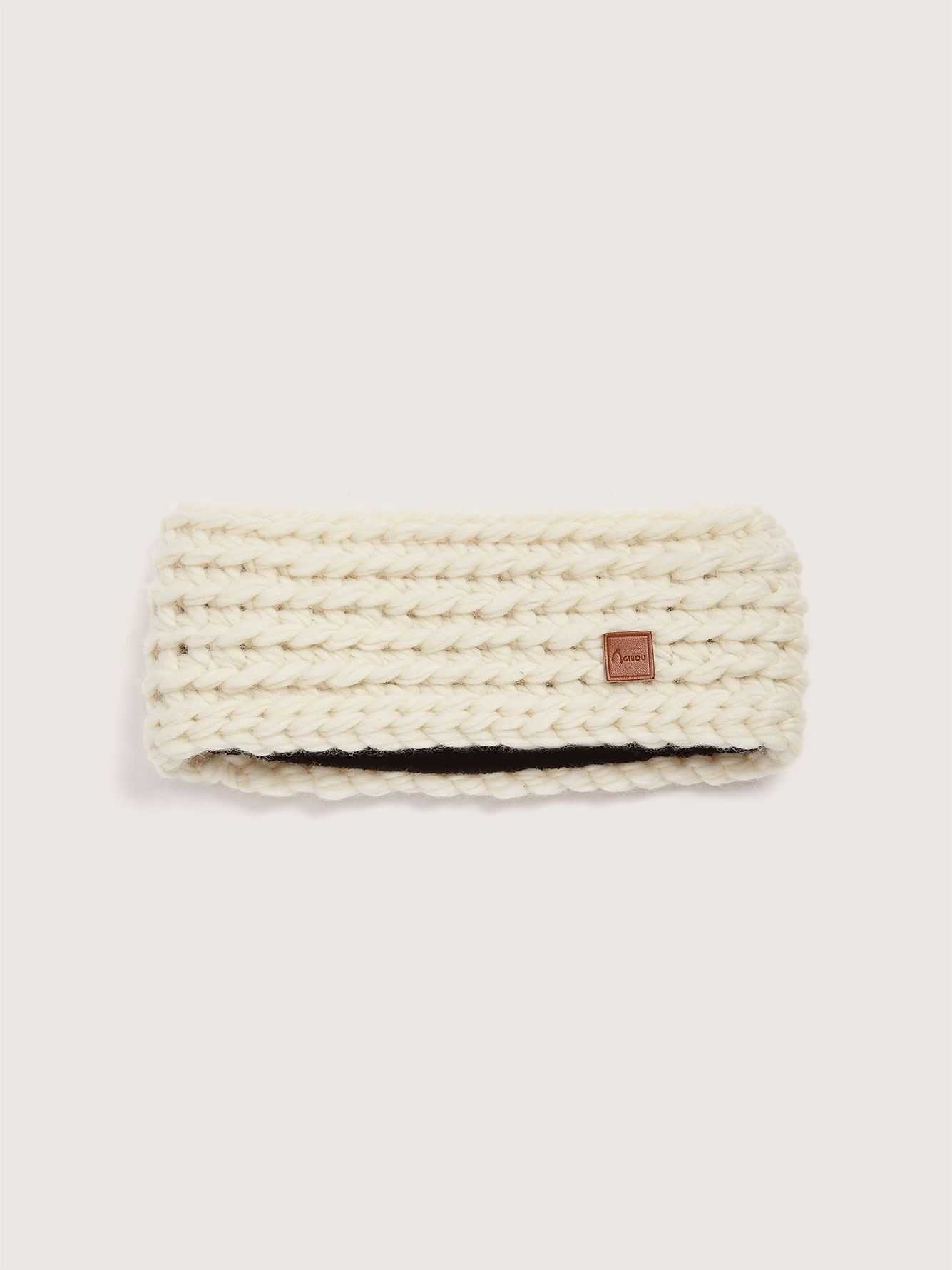 Hand-Knitted Wool Headband - Gibou