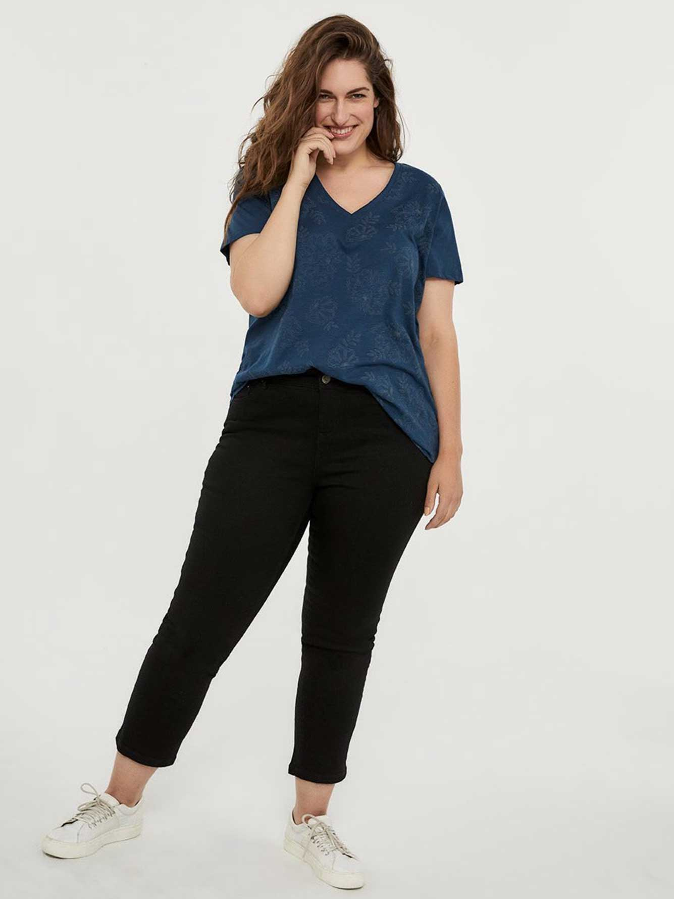 ONLINE ONLY - Tall Straight Fit Straight Leg Black Jean - d/C JEANS