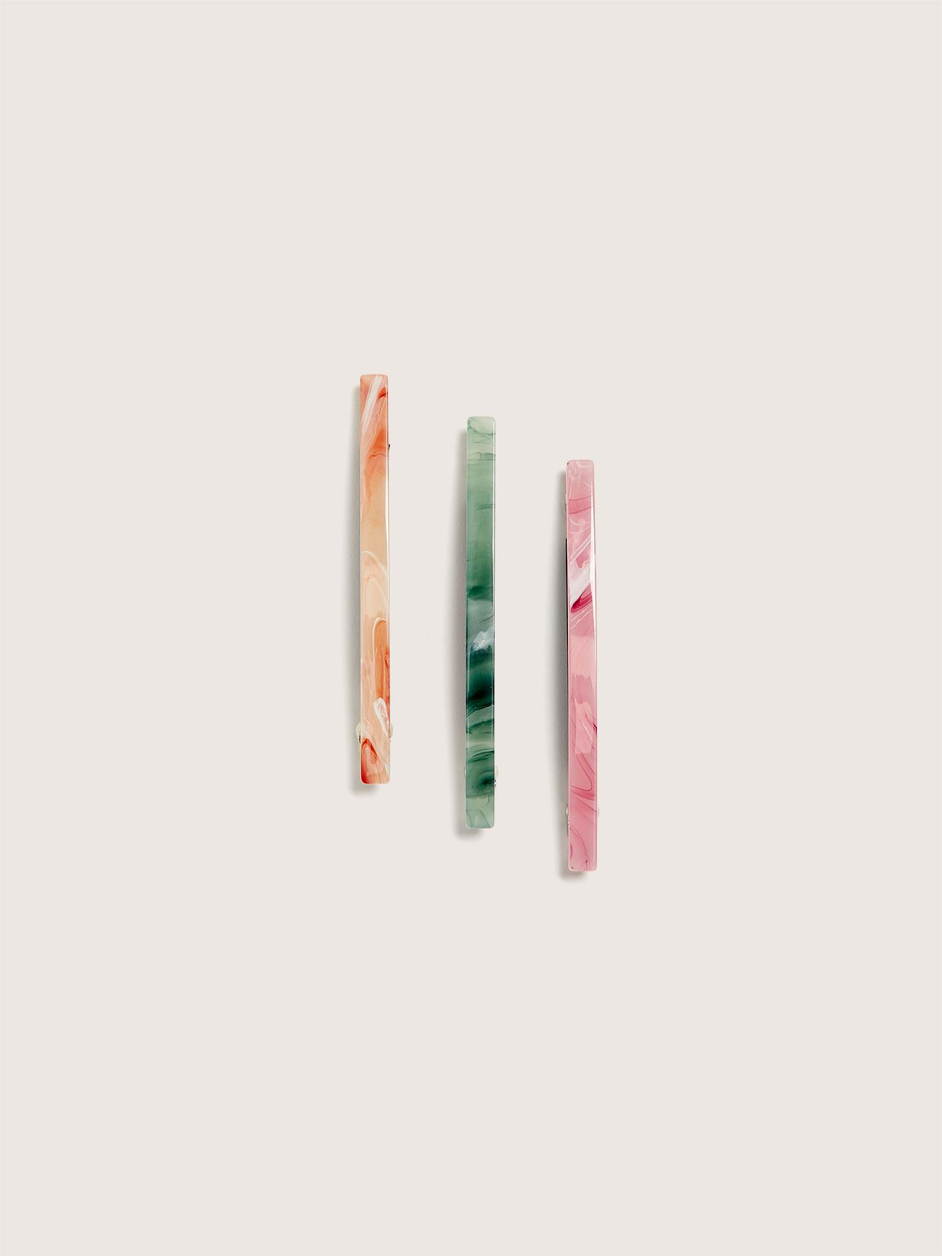 Marble Hair Clips, Pack of 3 - Addition Elle