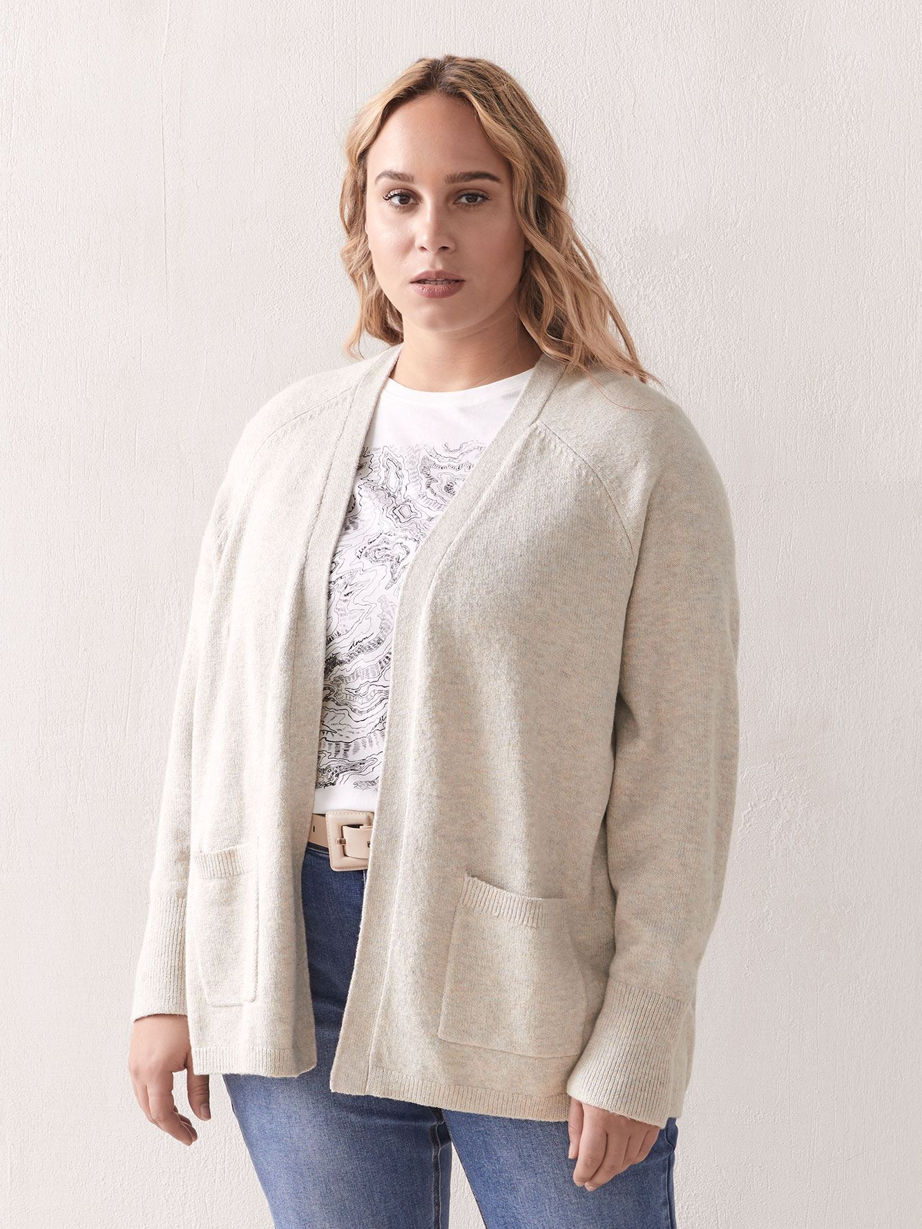 Boxy Edge to Edge Cardigan - Addition Elle