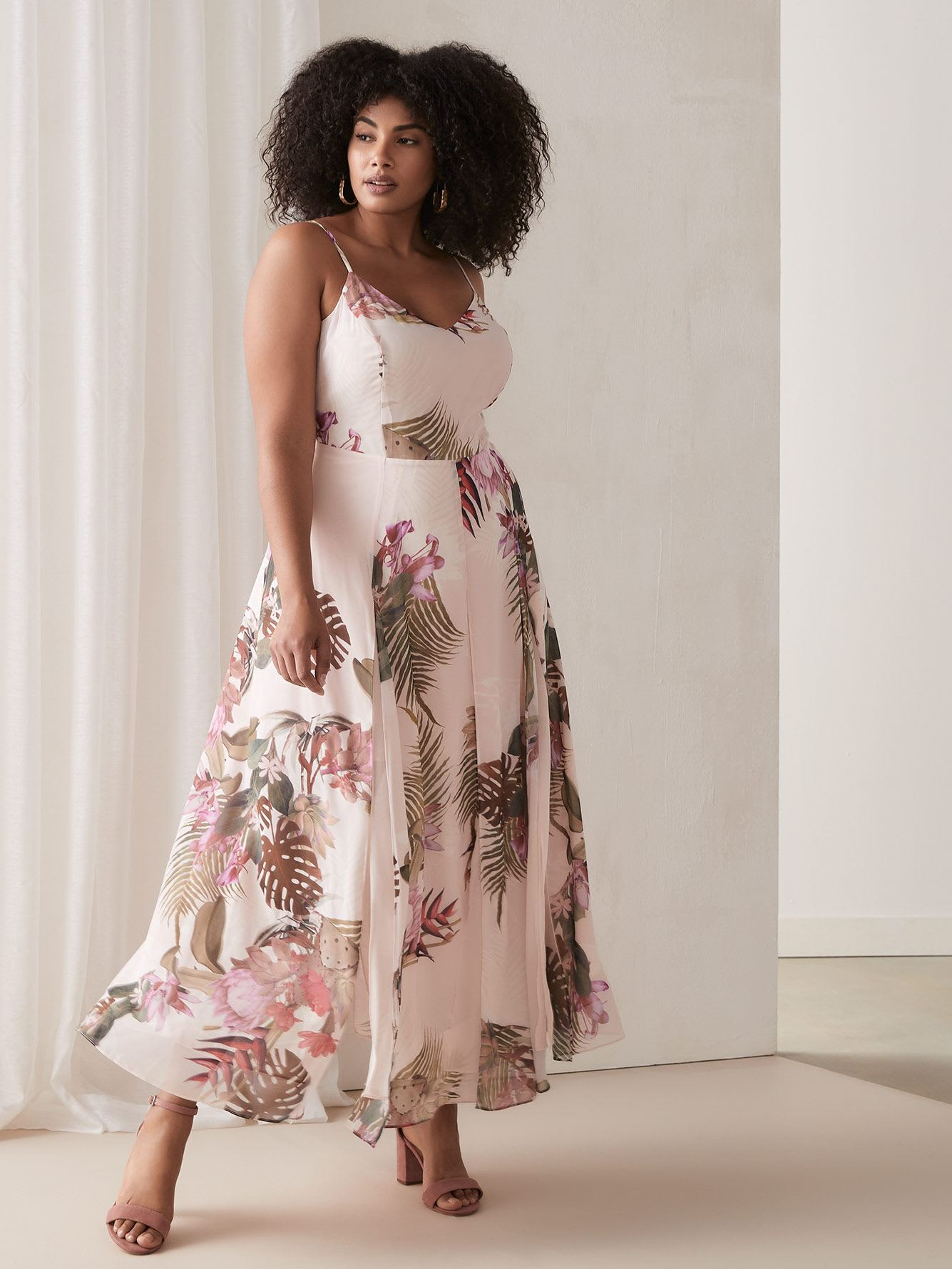 Maxi Dress with Floral Print - City Chic