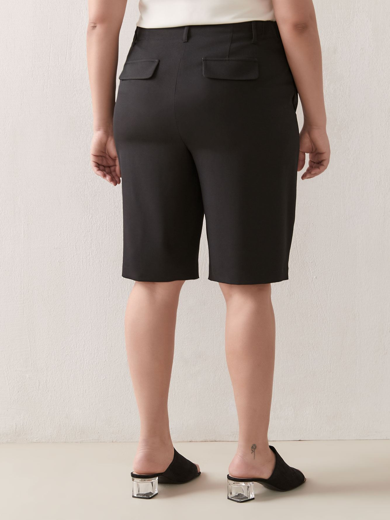 Wide Leg Bermuda Short - Addition Elle