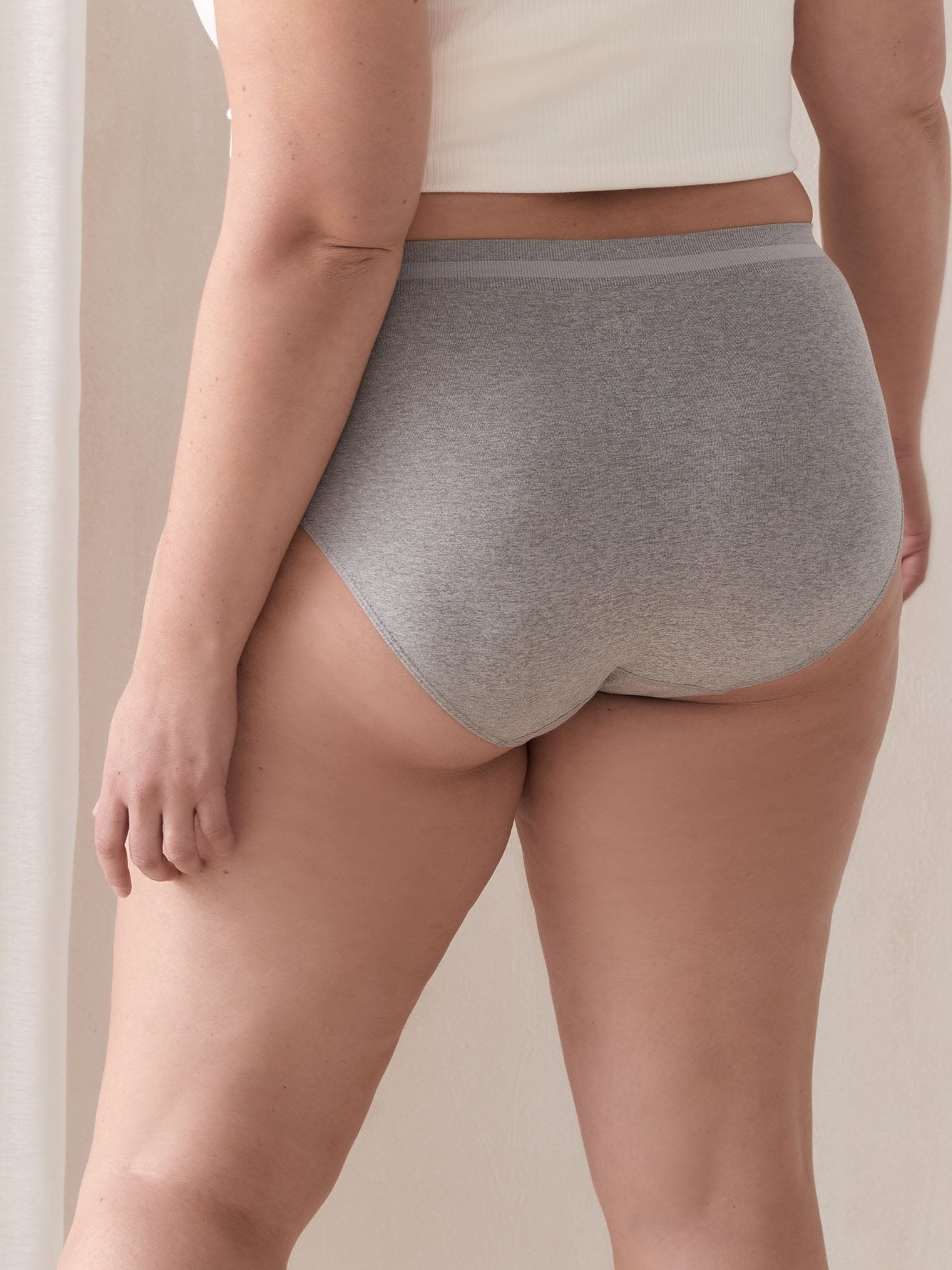 Heathered High Cut Seamless Panty - ti Voglio